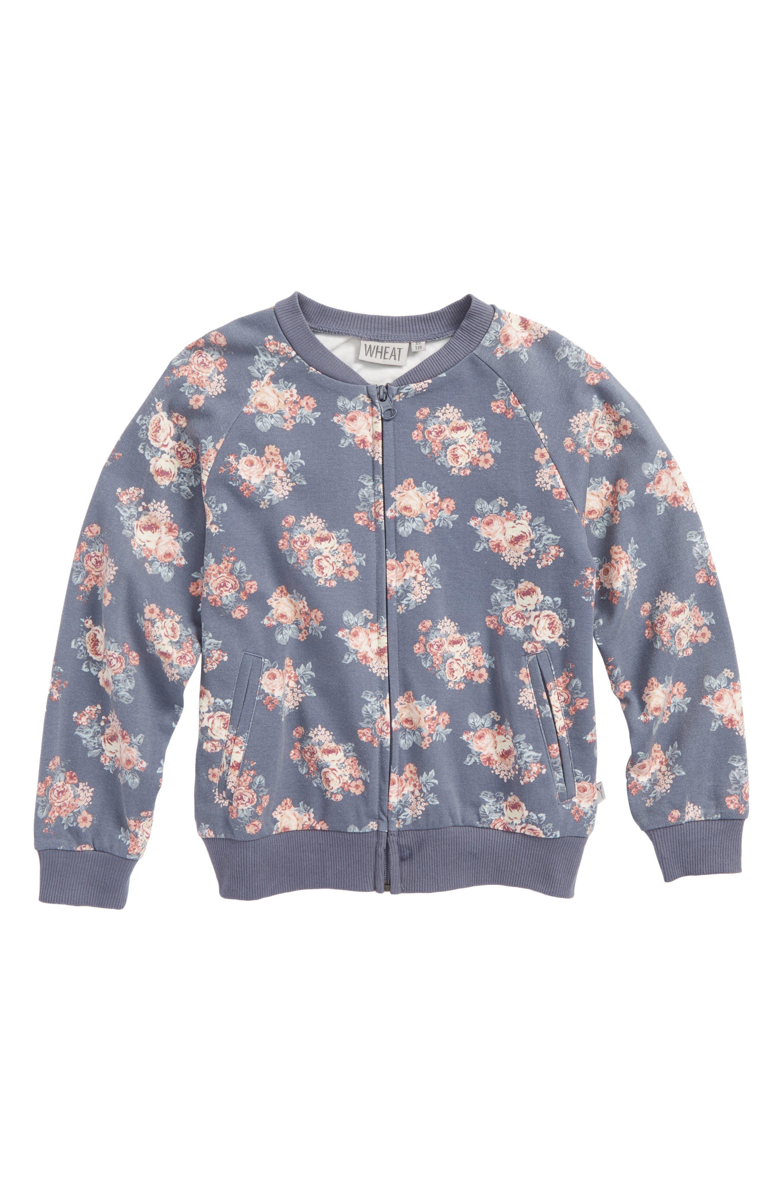 Liva Floral Sweatshirt,                             Main thumbnail 1, color,                             Grisaille