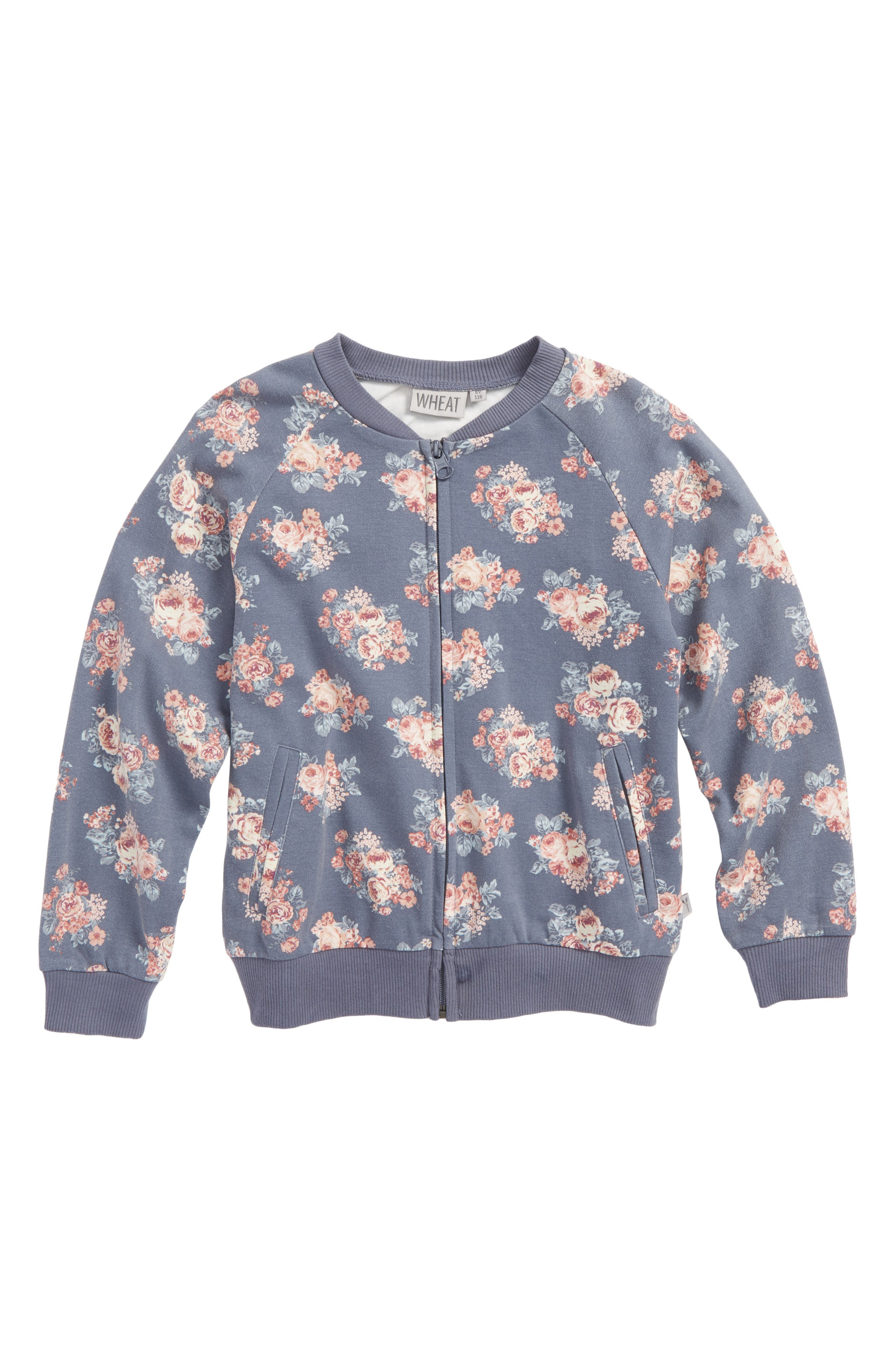 Wheat Liva Floral Sweatshirt (Toddler Girls, Little Girls & Big Girls)