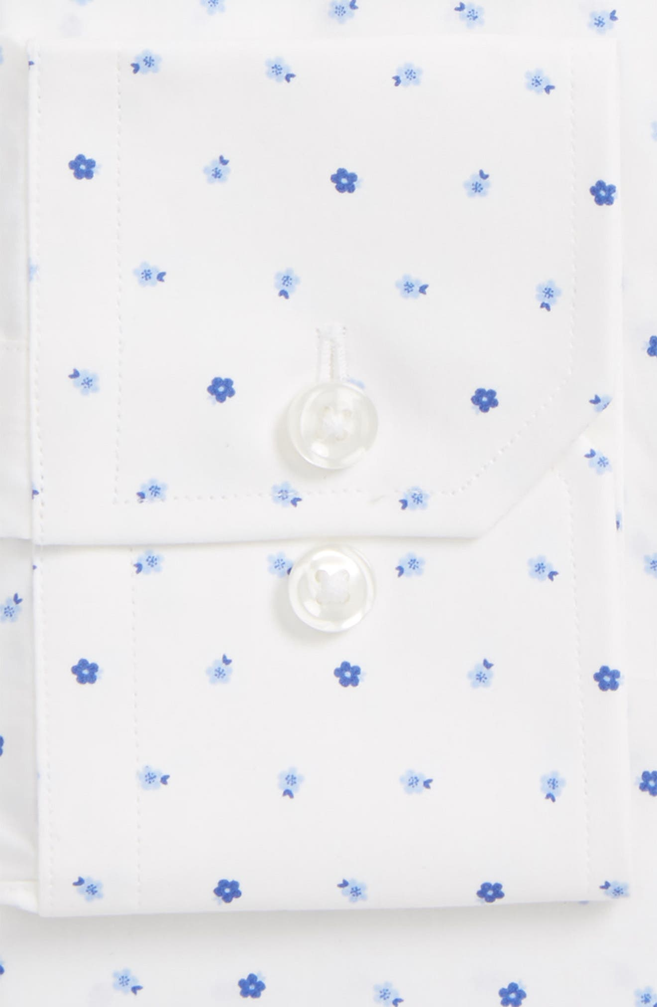 Trim Fit Floral Dress Shirt,                             Alternate thumbnail 2, color,                             Multi Blue Floral
