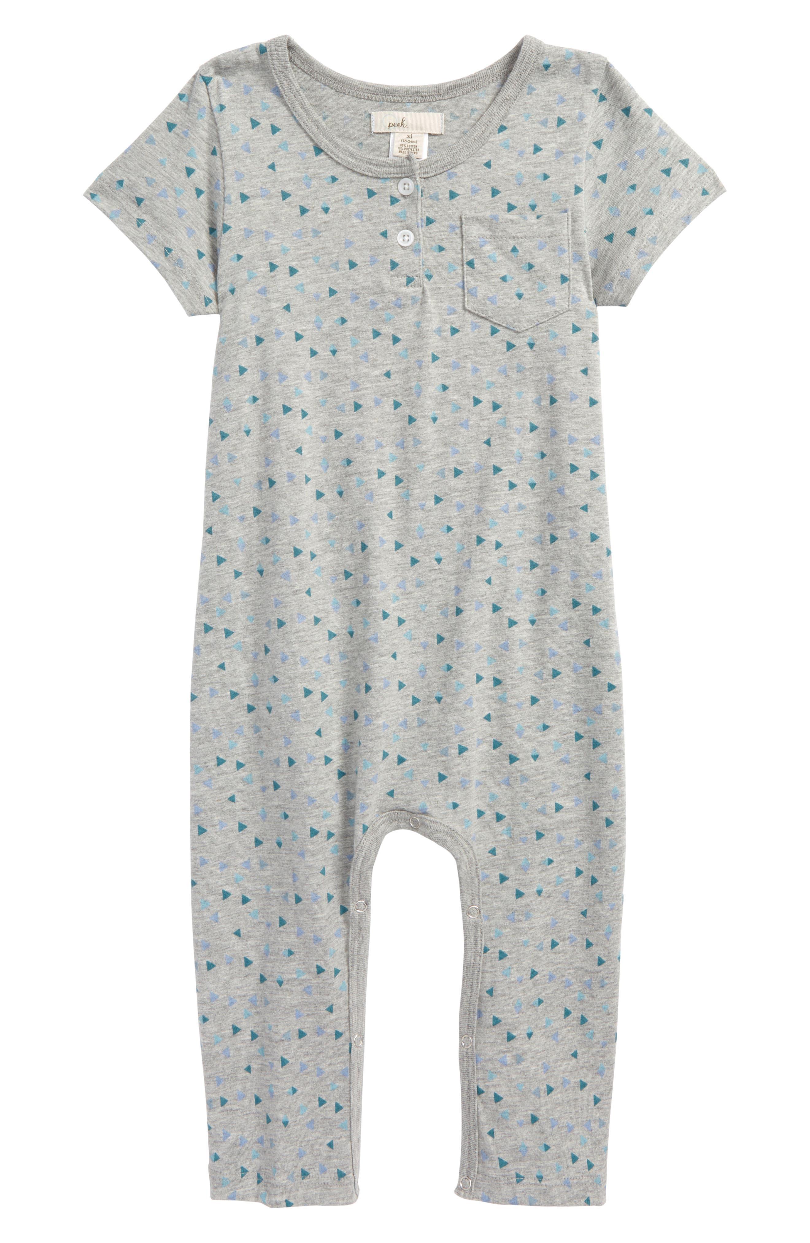 Peek Geo Print Romper (Baby)