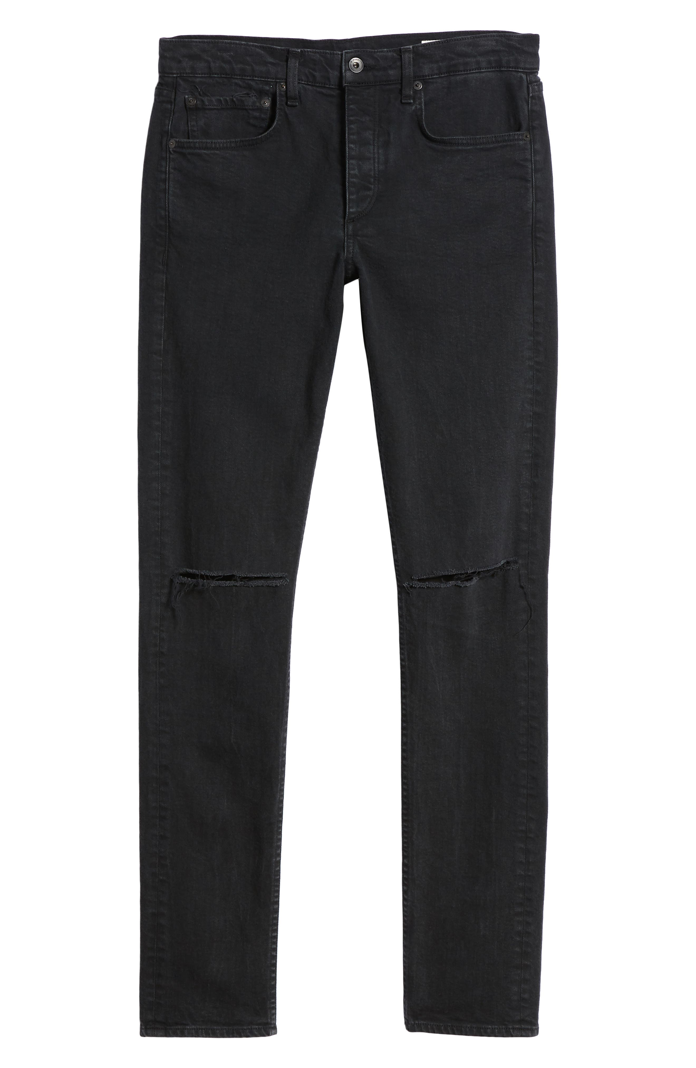 Fit 1 Skinny Fit Jeans,                             Alternate thumbnail 6, color,                             Shelter W/ Holes