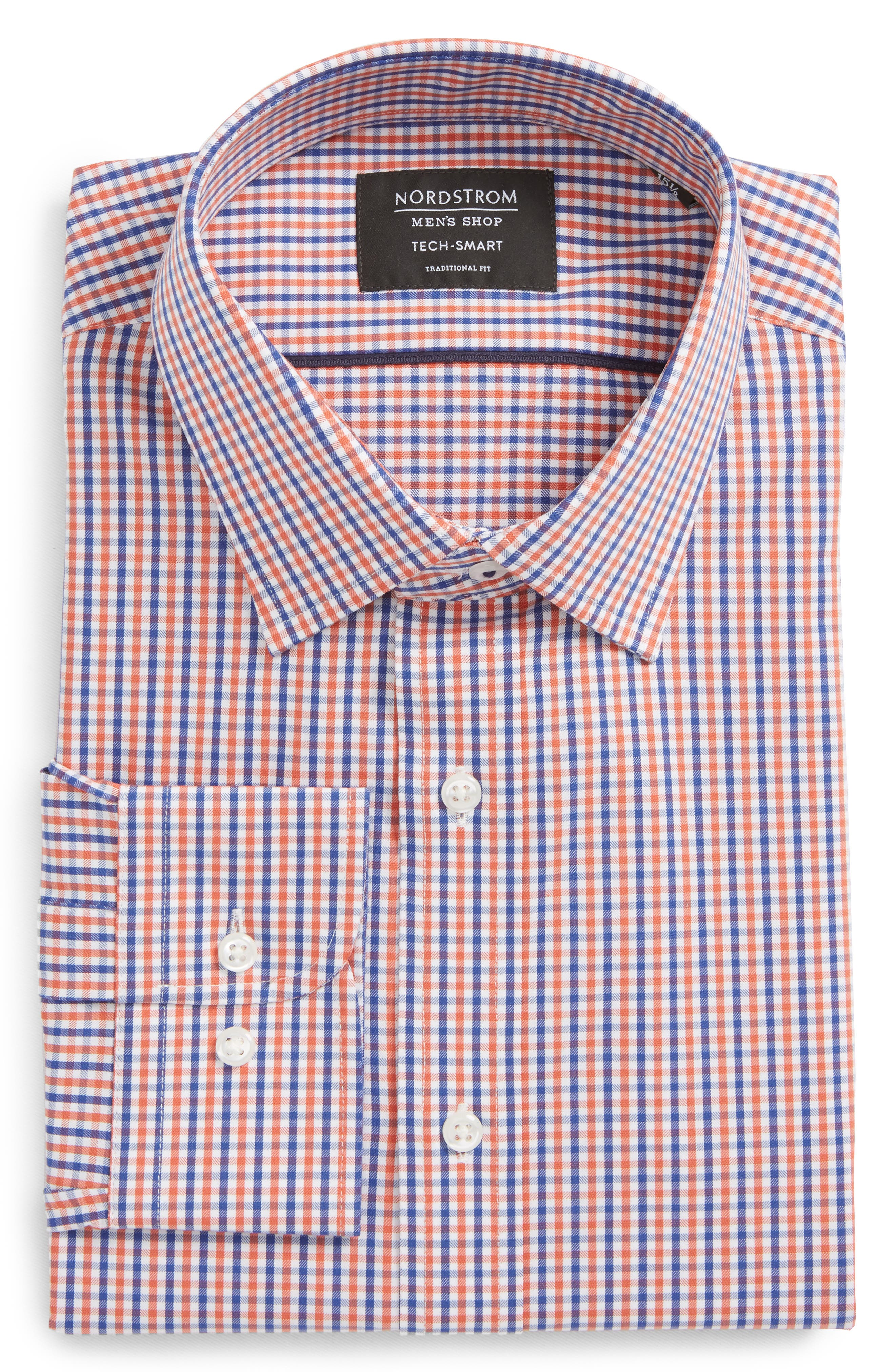 Nordstrom Men's Shop Tech-Smart Traditional Fit Stretch Check Dress Shirt