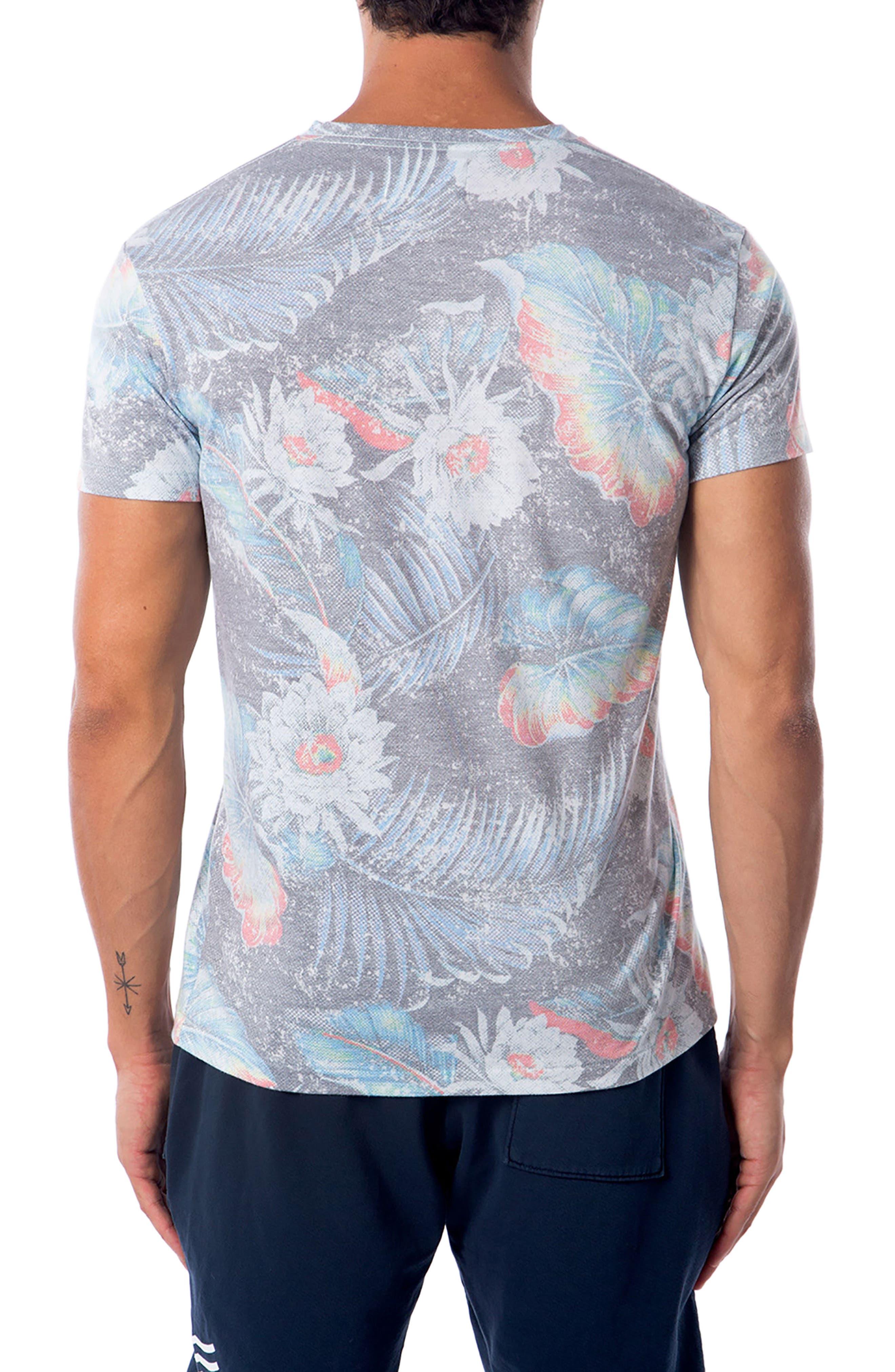Aqua Floral T-Shirt,                             Alternate thumbnail 2, color,                             Aqua Flora