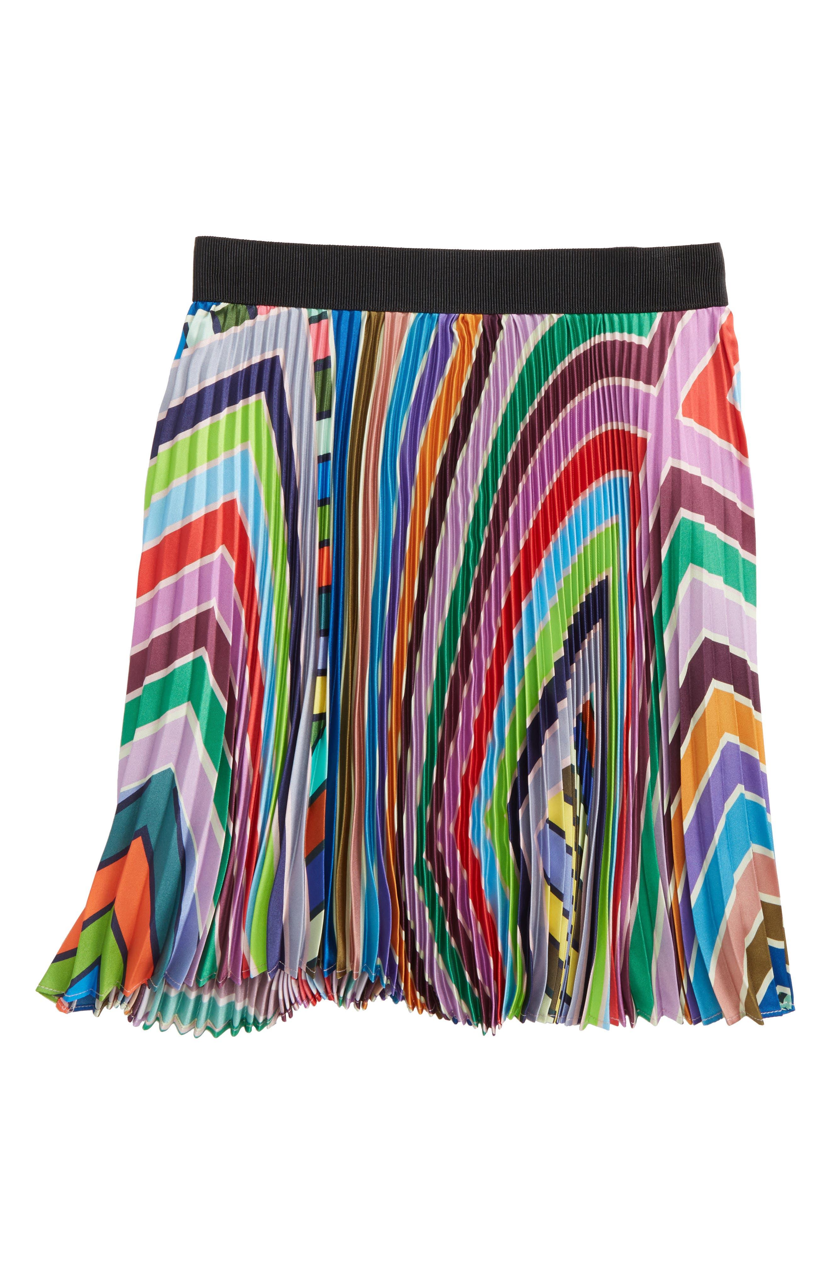Pleated Skirt,                         Main,                         color, Purple Multi