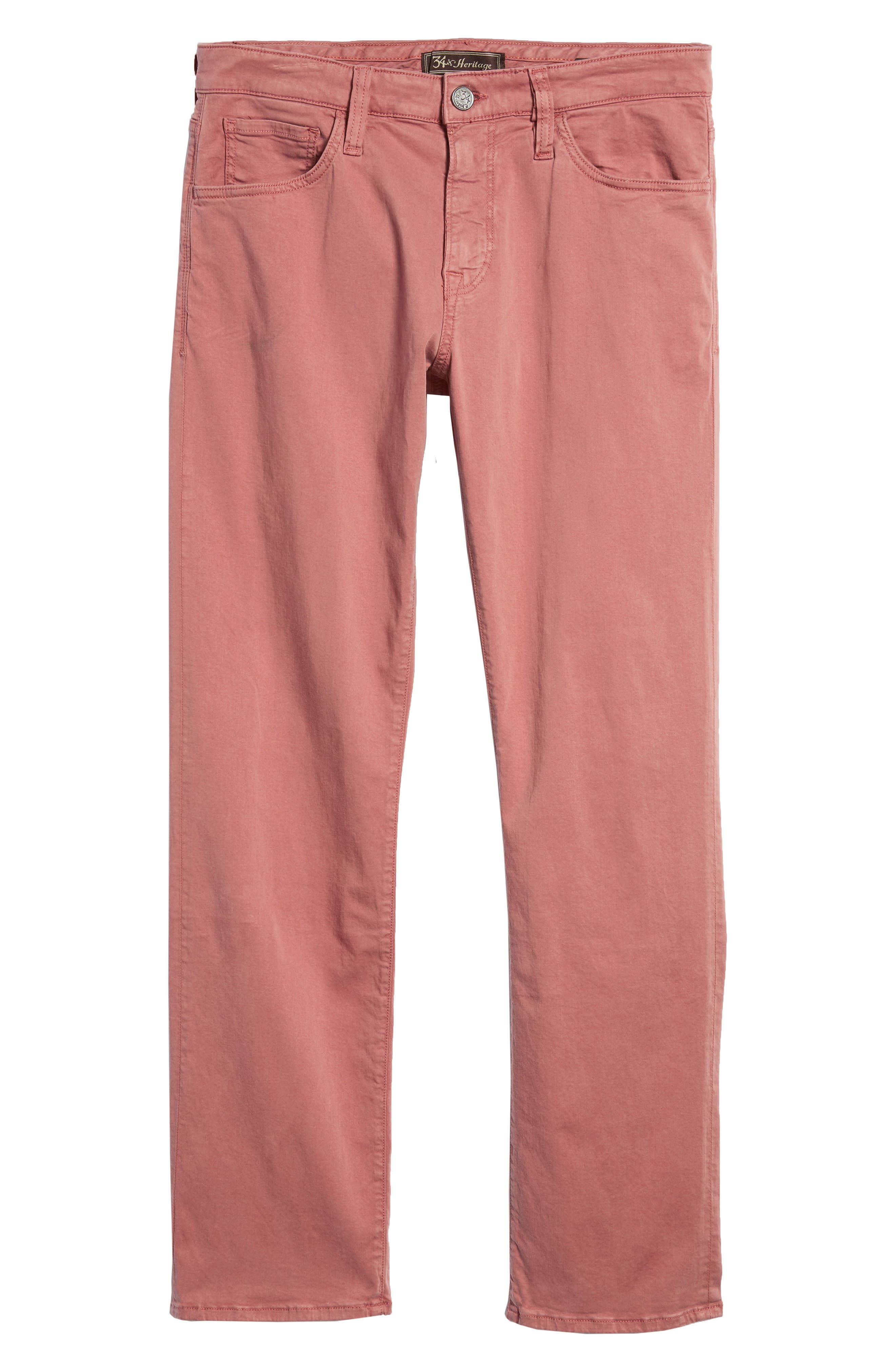 Courage Straight Leg Twill Pants,                             Alternate thumbnail 6, color,                             Brick Twill