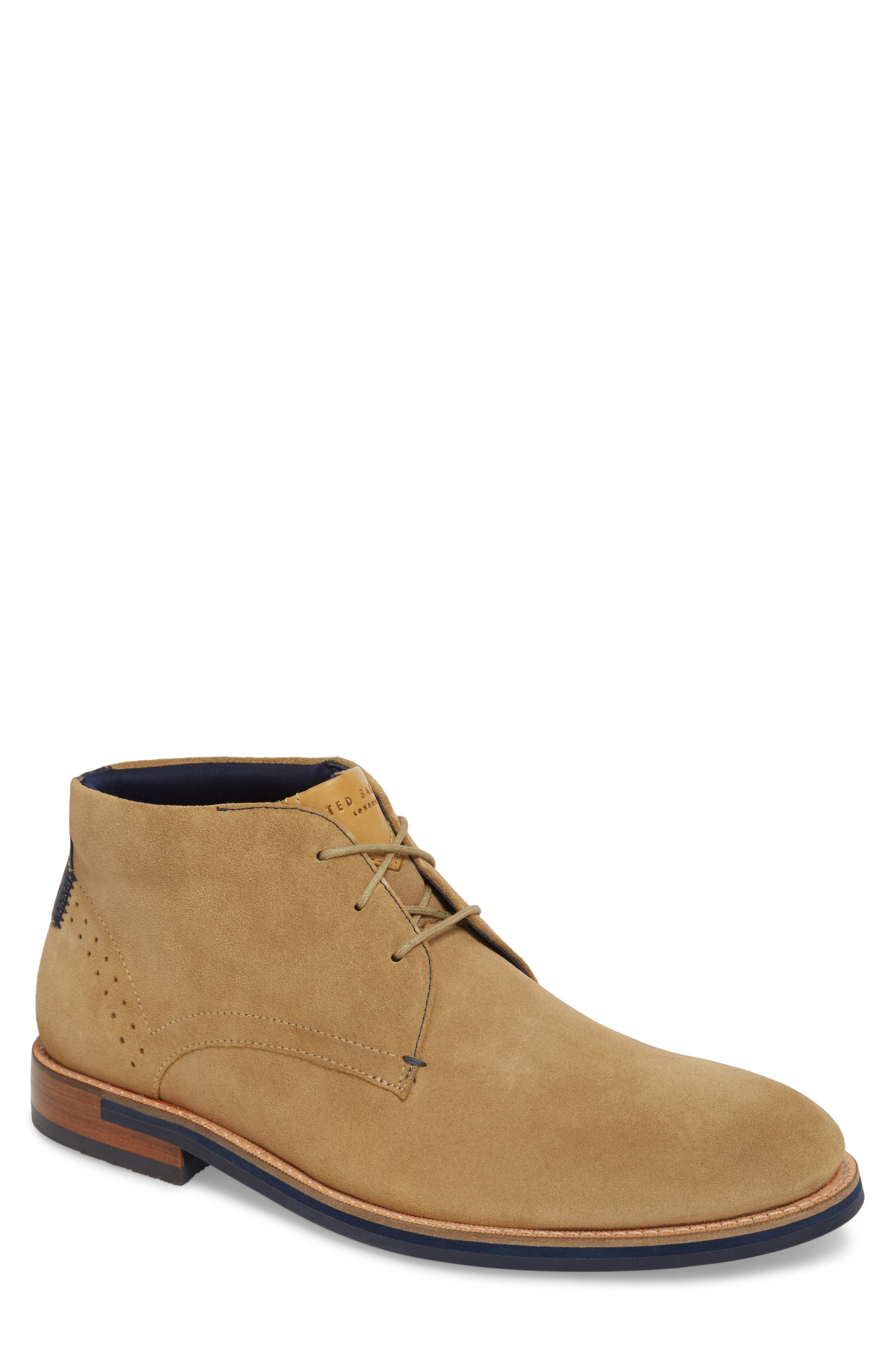 Daiinos Chukka Boot,                         Main,                         color, Sand Suede