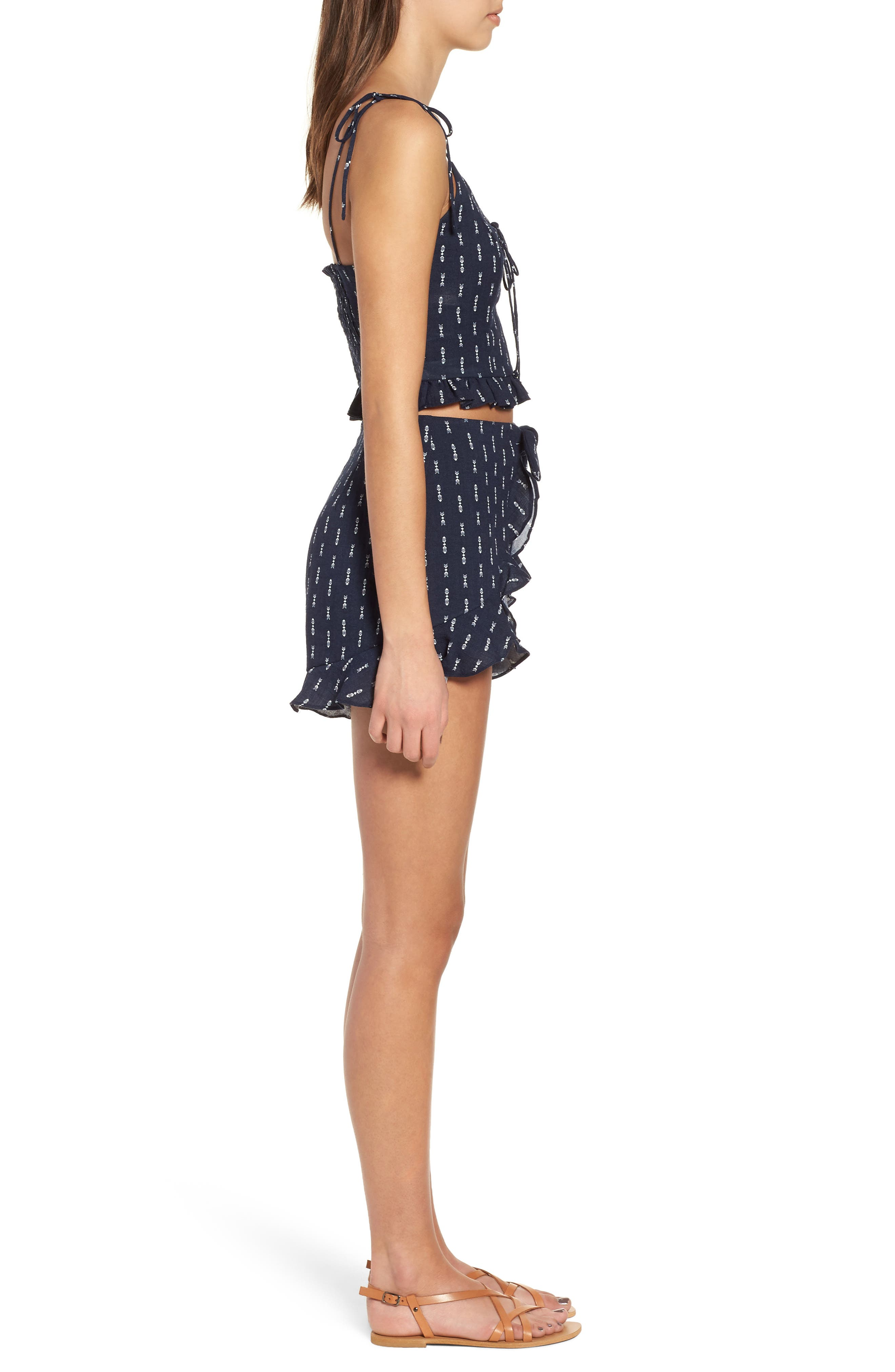 Melrose Flutter Shorts,                             Alternate thumbnail 4, color,                             Navy