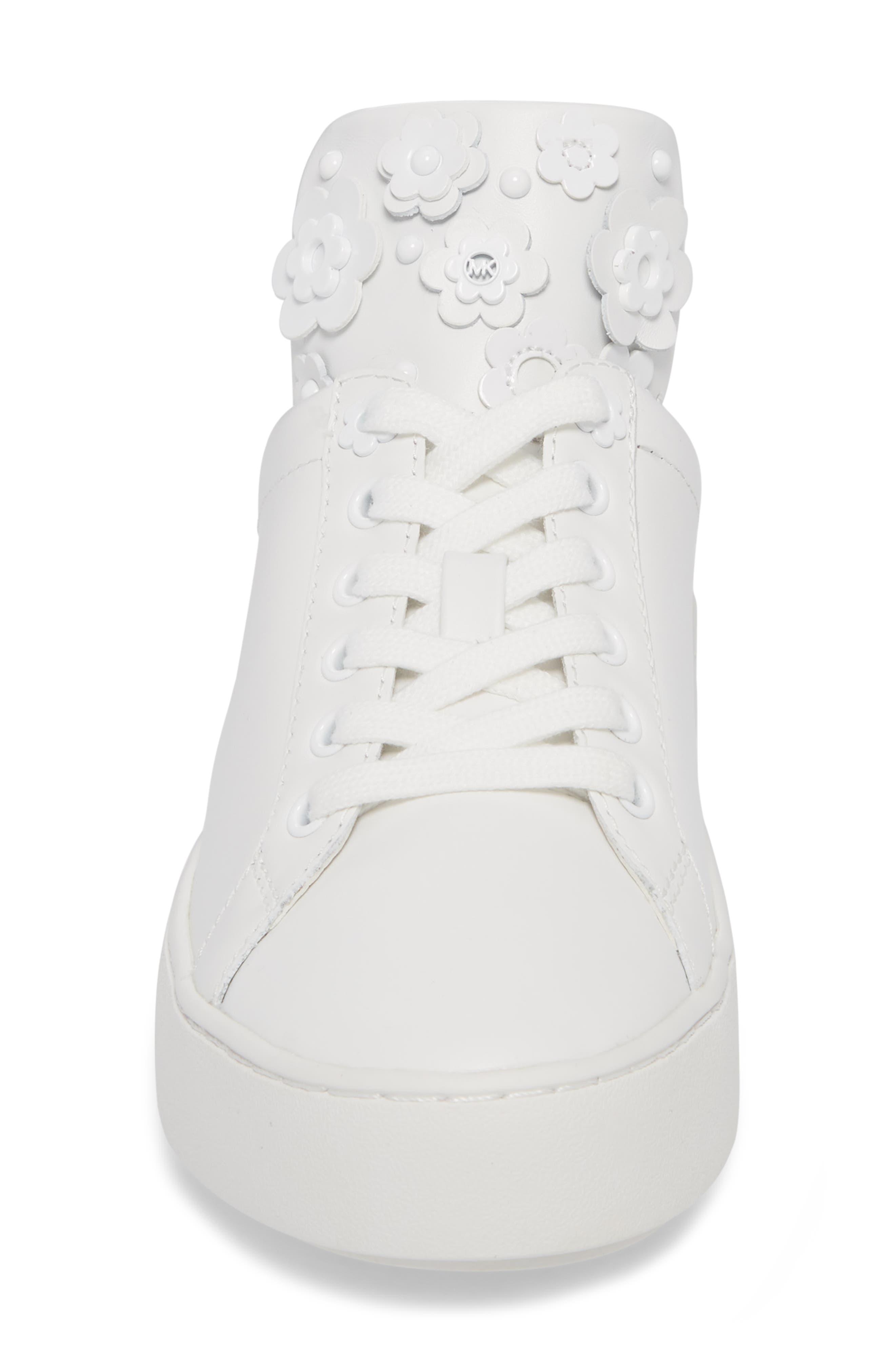 Mindy Platform Sneaker,                             Alternate thumbnail 4, color,                             Optic White
