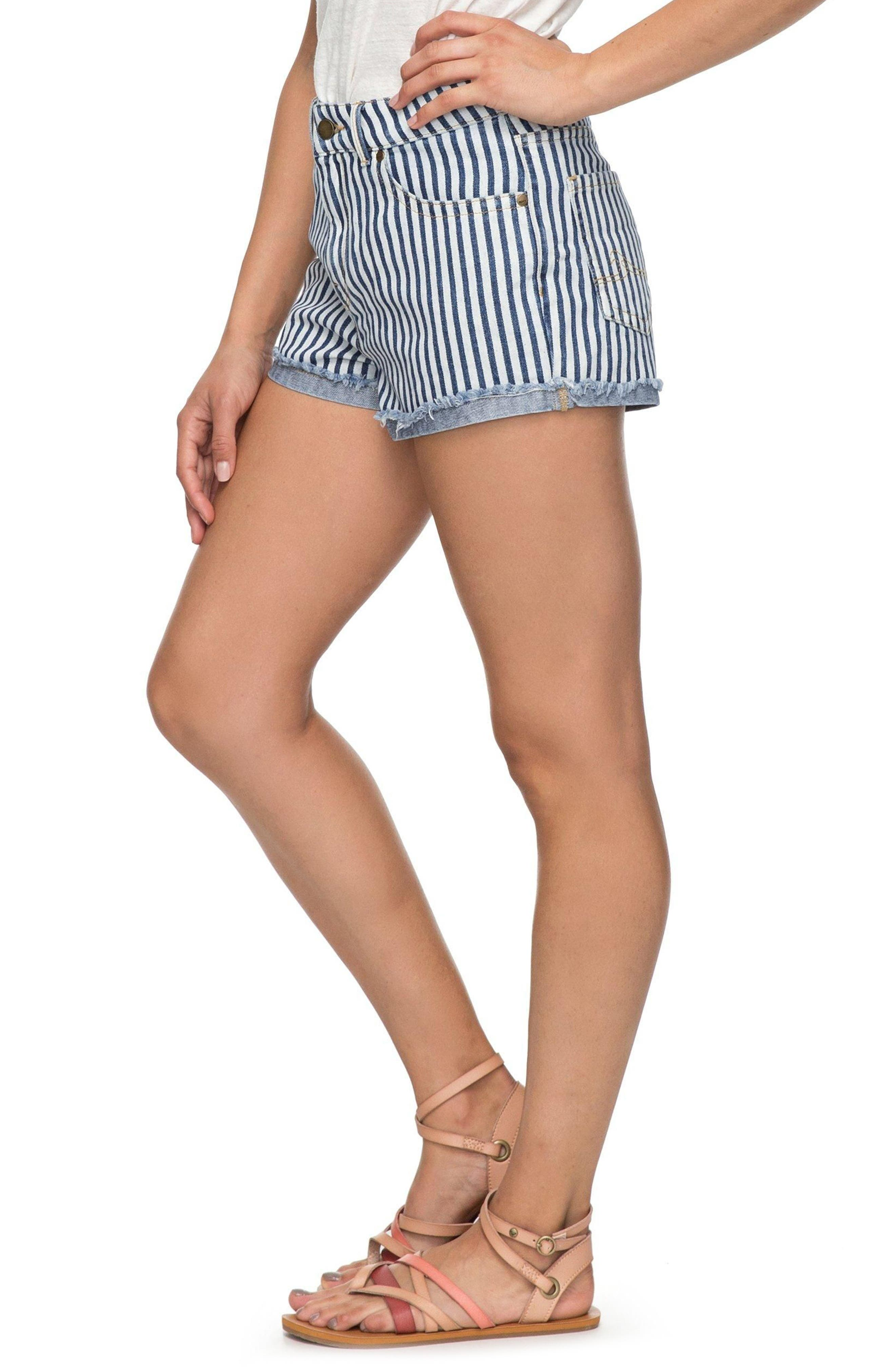 Holbrook Stripe Cotton Shorts,                             Alternate thumbnail 3, color,                             Medium Blue La Vague Stripe