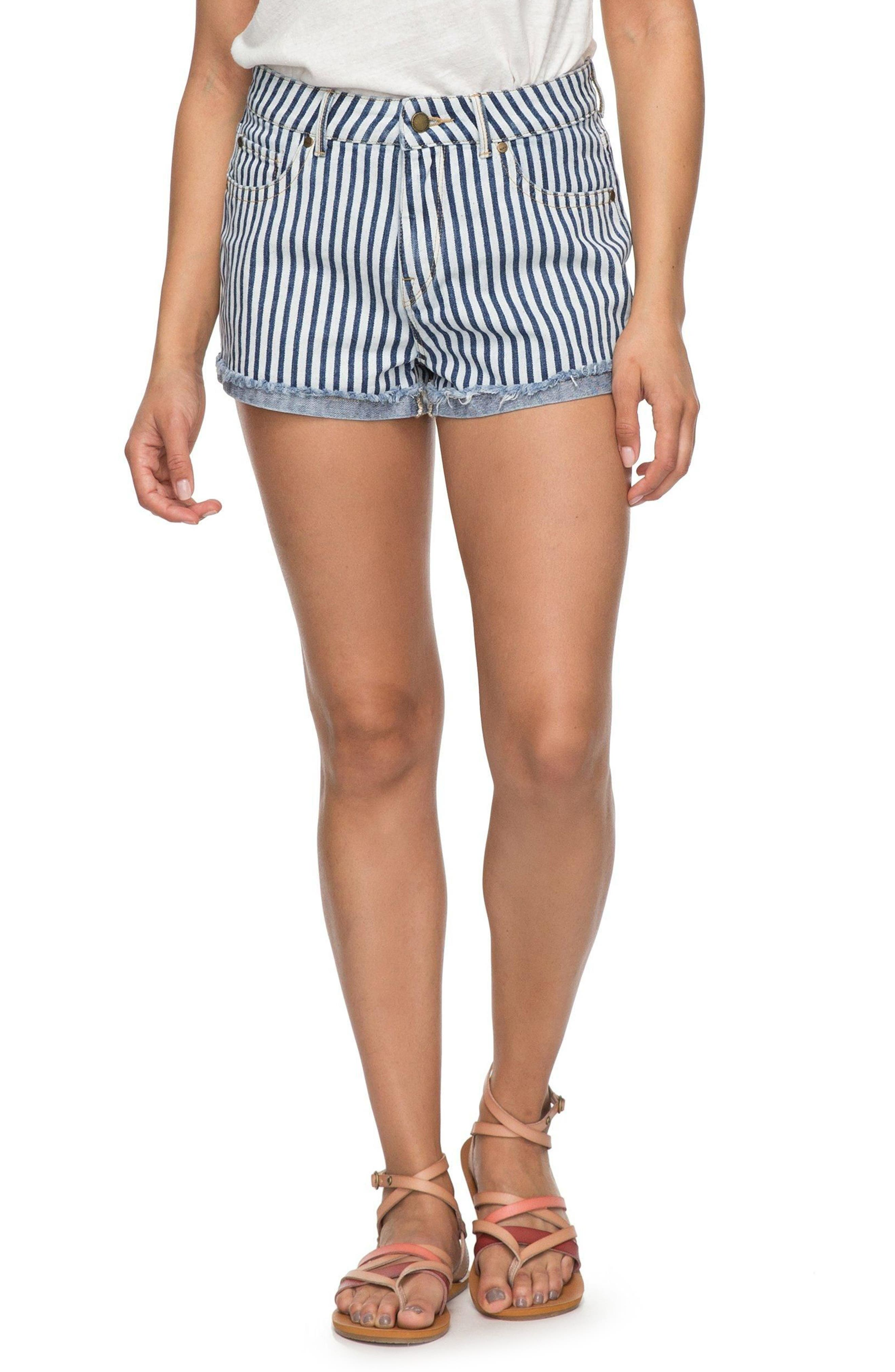 Holbrook Stripe Cotton Shorts,                             Main thumbnail 1, color,                             Medium Blue La Vague Stripe
