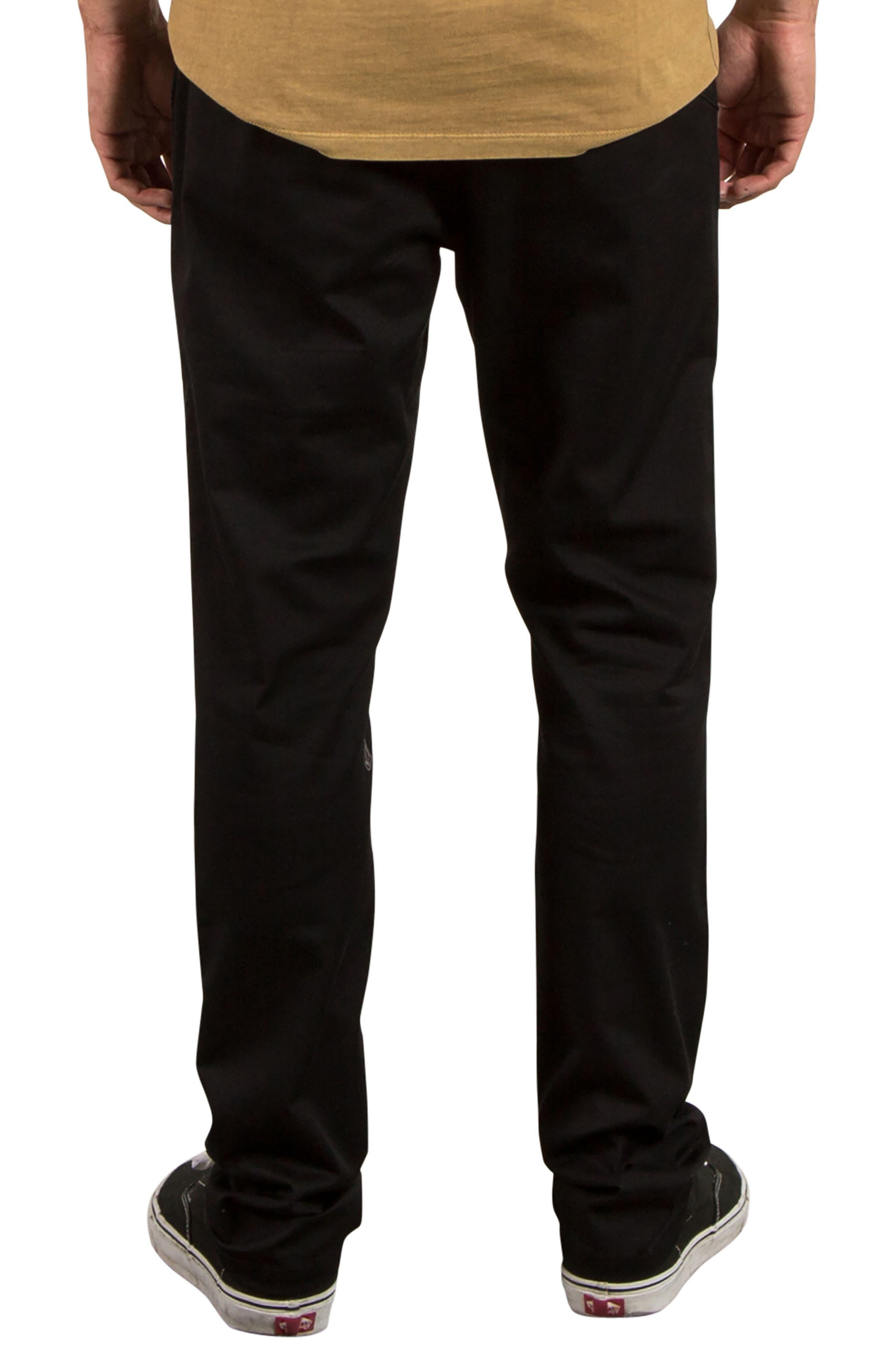 Comfort Chino Pants,                             Alternate thumbnail 2, color,                             Black