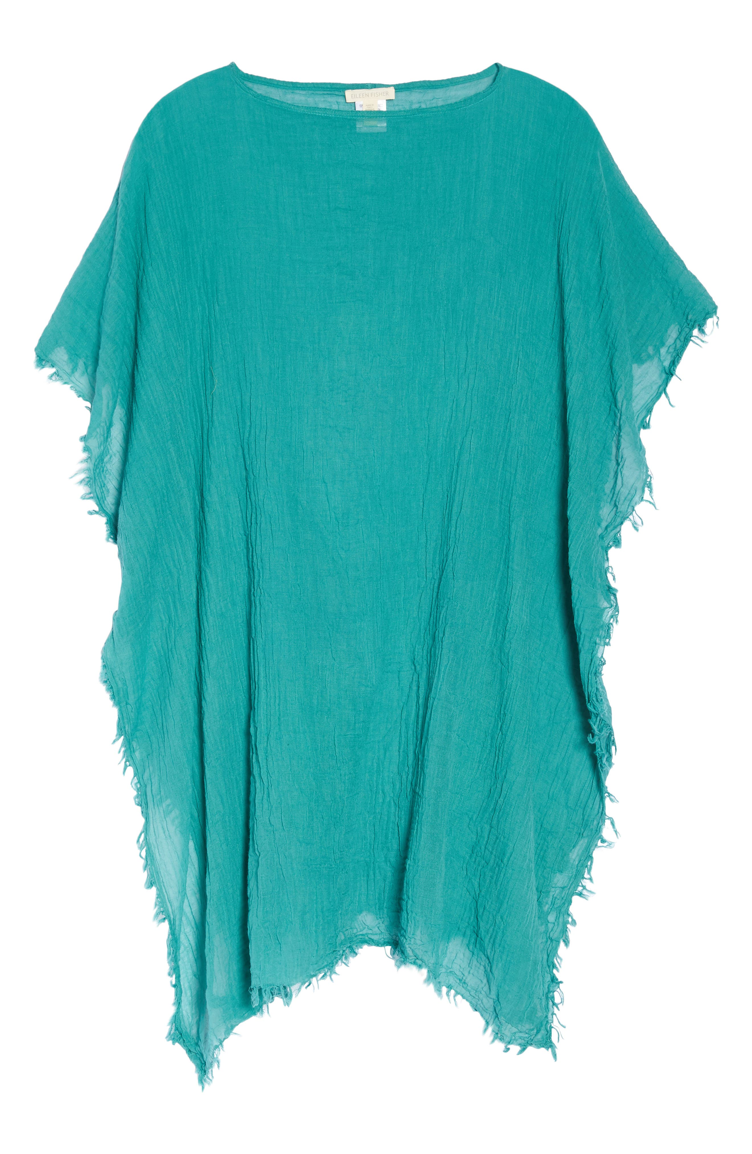 Organic Cotton Poncho,                             Alternate thumbnail 7, color,                             Turquoise