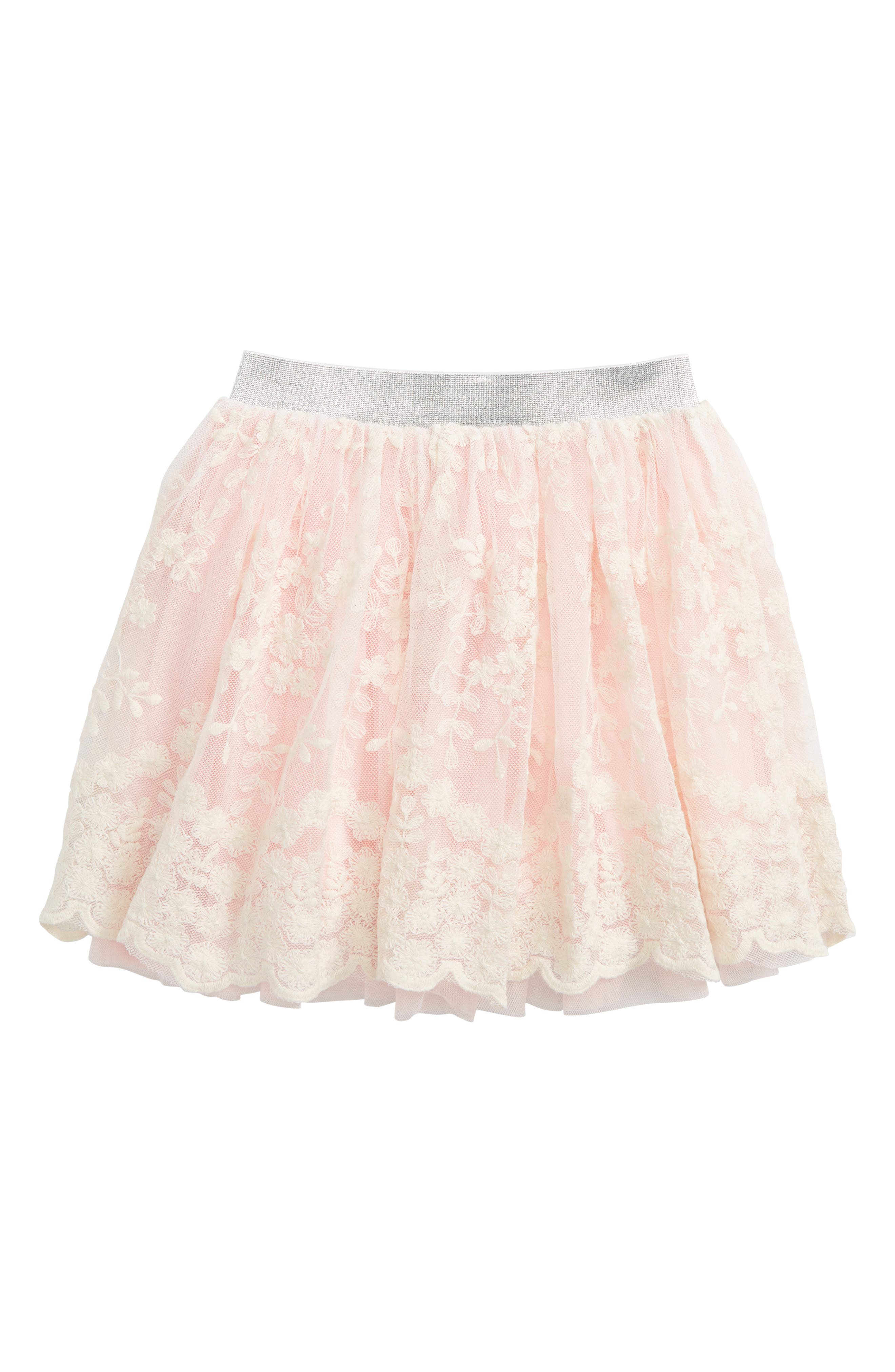 Floral Lace Skirt,                         Main,                         color, Cream Multi