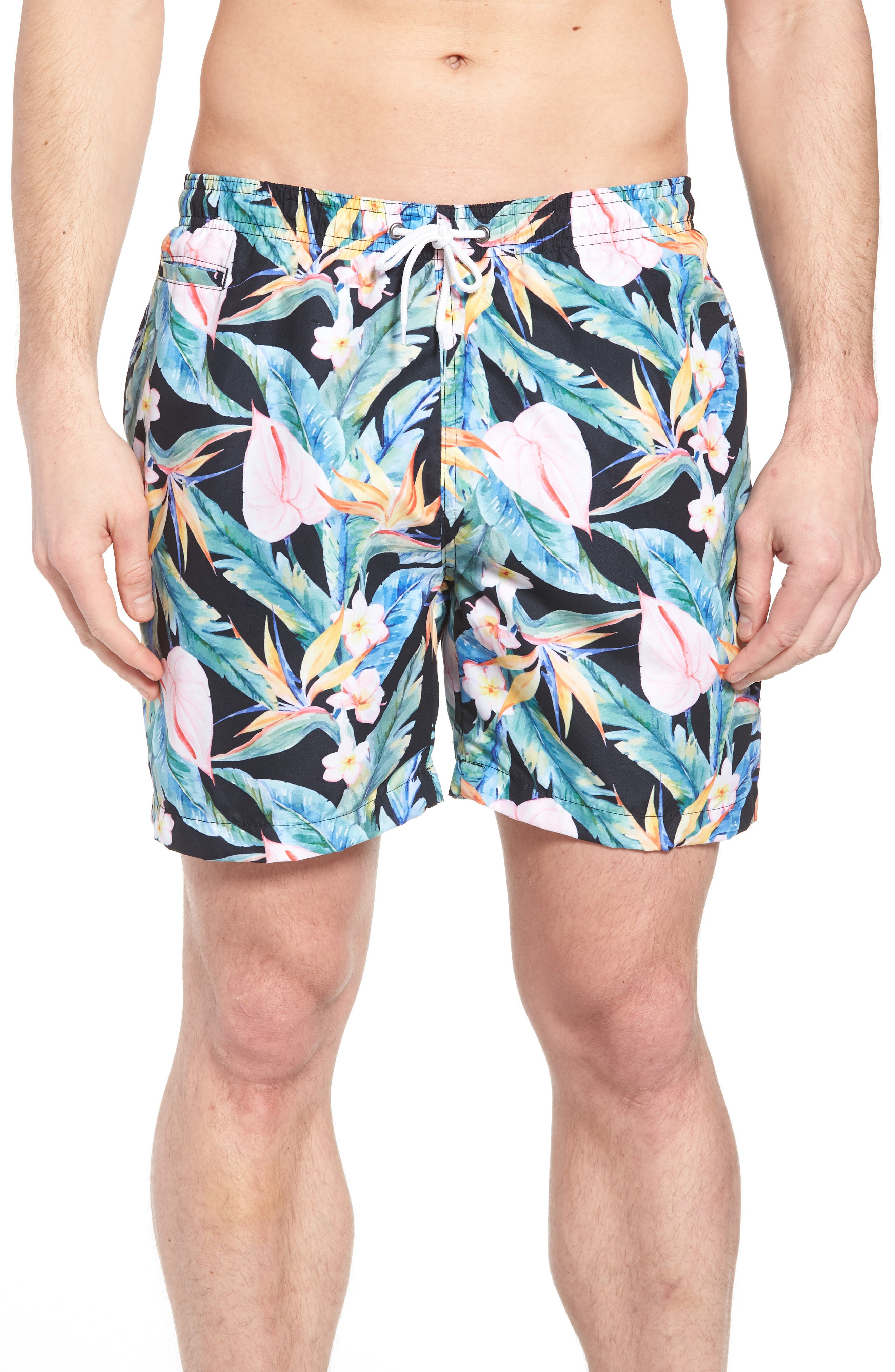 Trunks Surf & Swim Co. Floral Print Swim Trunks