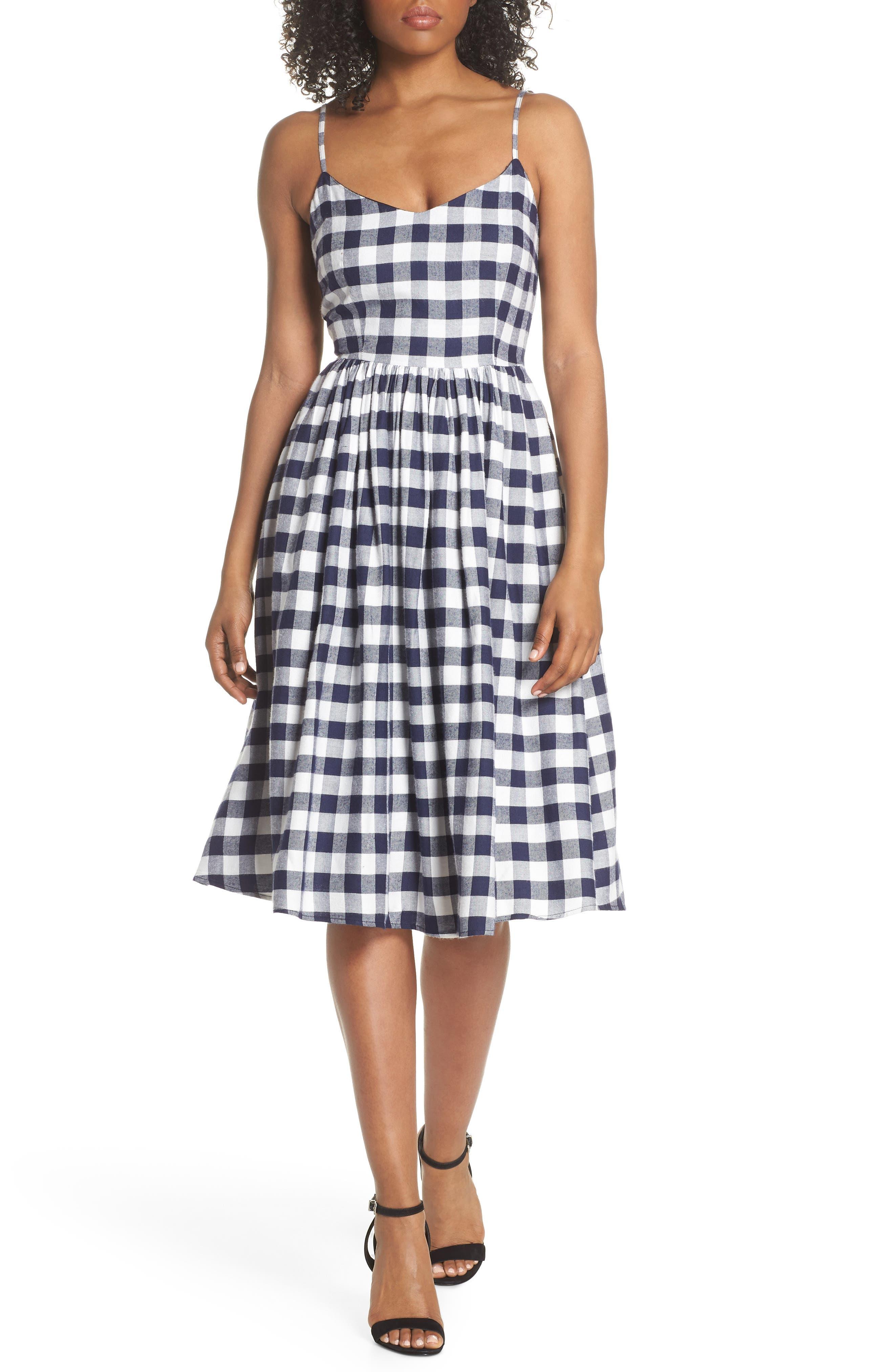 BB Dakota Matie Gingham Midi Dress