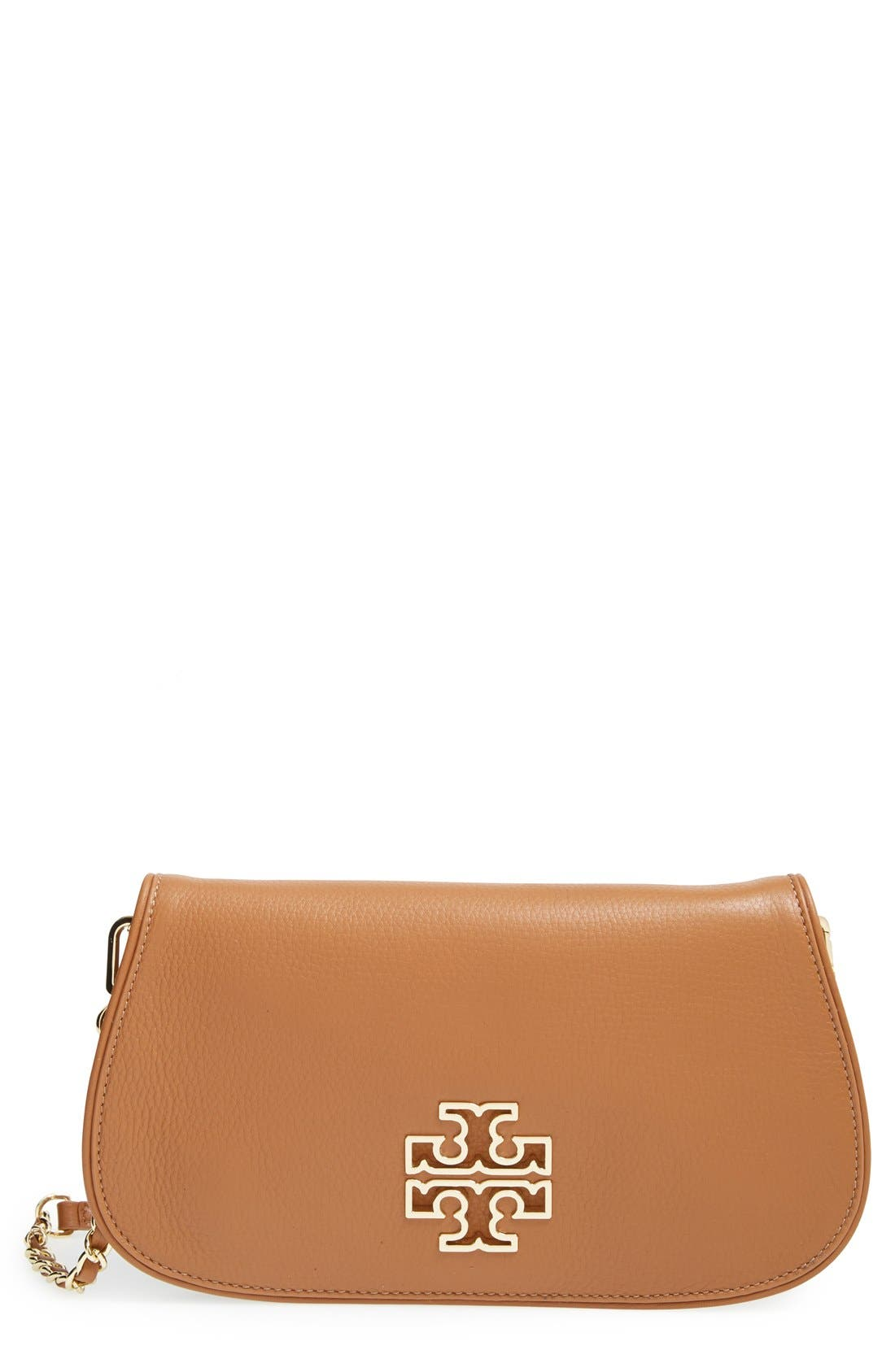 Alternate Image 1 Selected - Tory Burch 'Britten' Leather Clutch