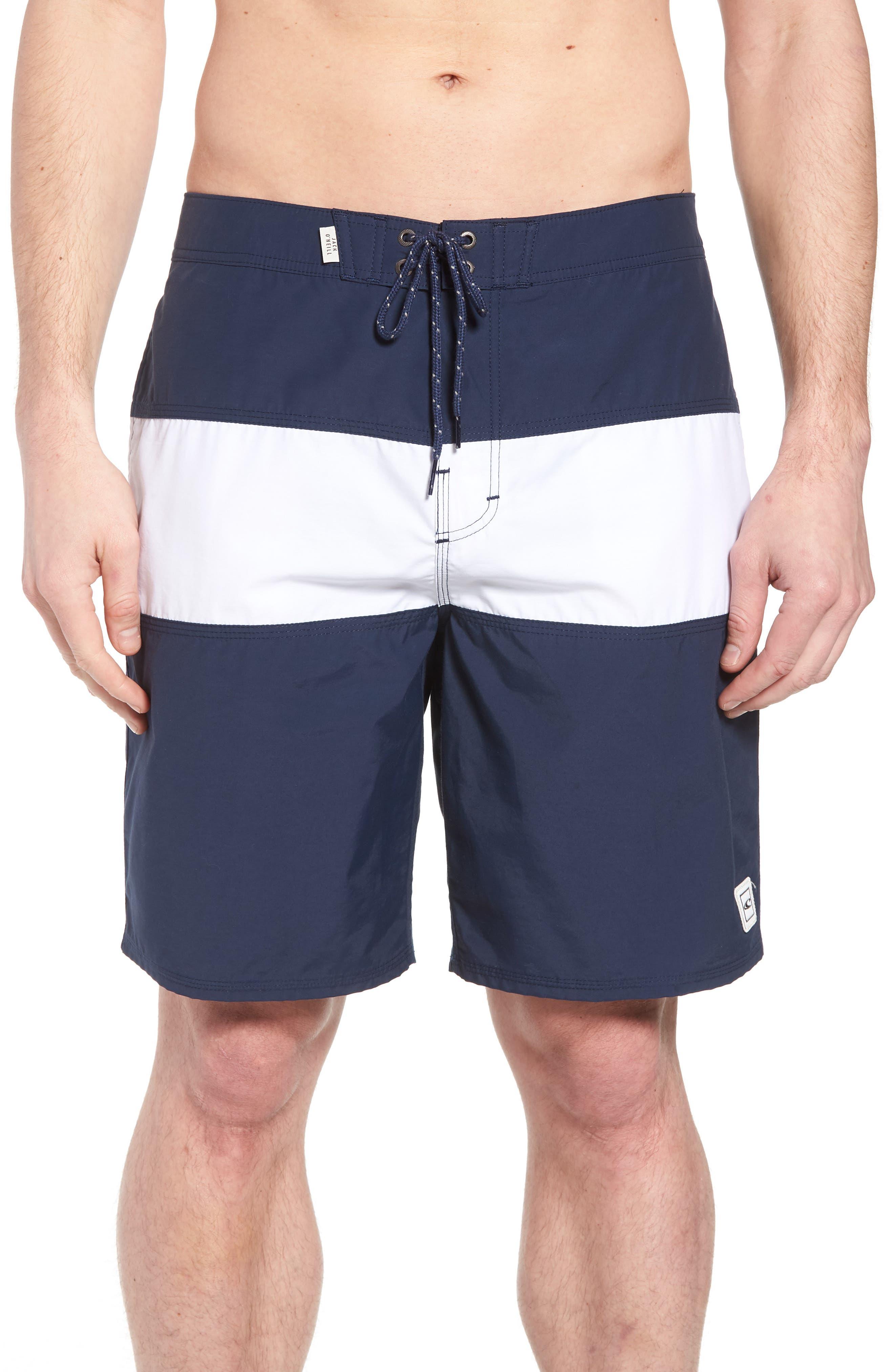 Heritage Board Shorts,                             Main thumbnail 1, color,                             Navy