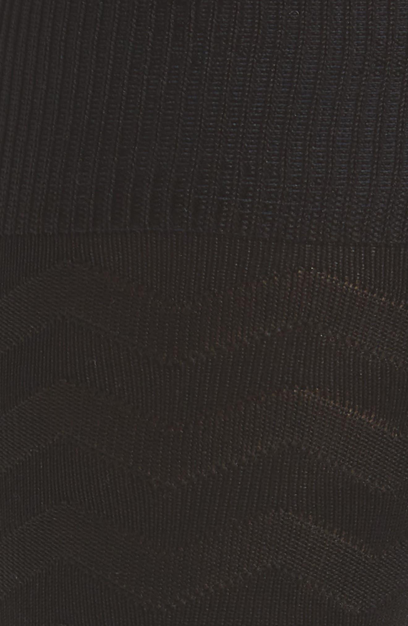 Zigzag Socks,                             Alternate thumbnail 2, color,                             Black