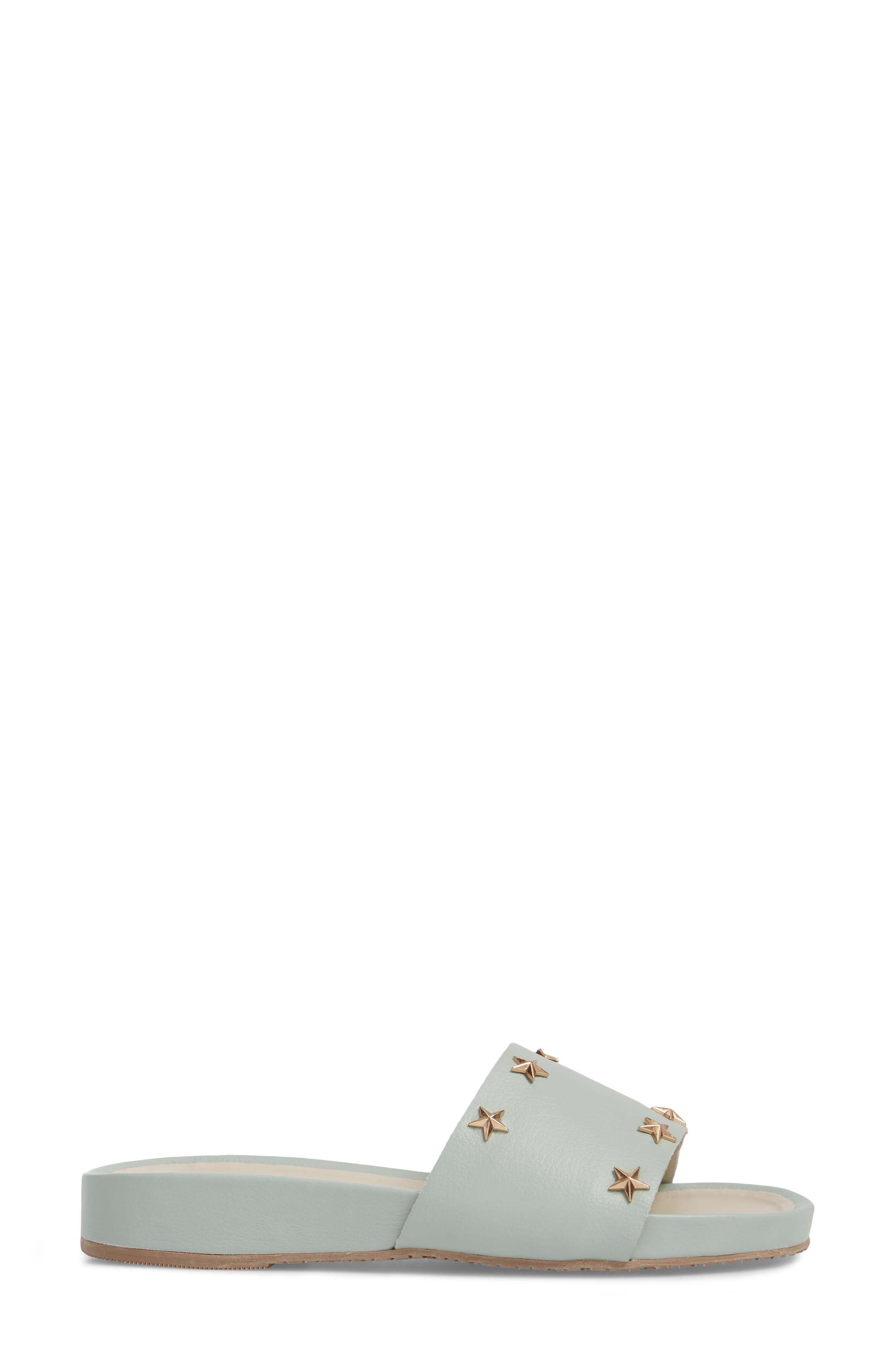 Bodrum Slide Sandal,                             Alternate thumbnail 3, color,                             Mint