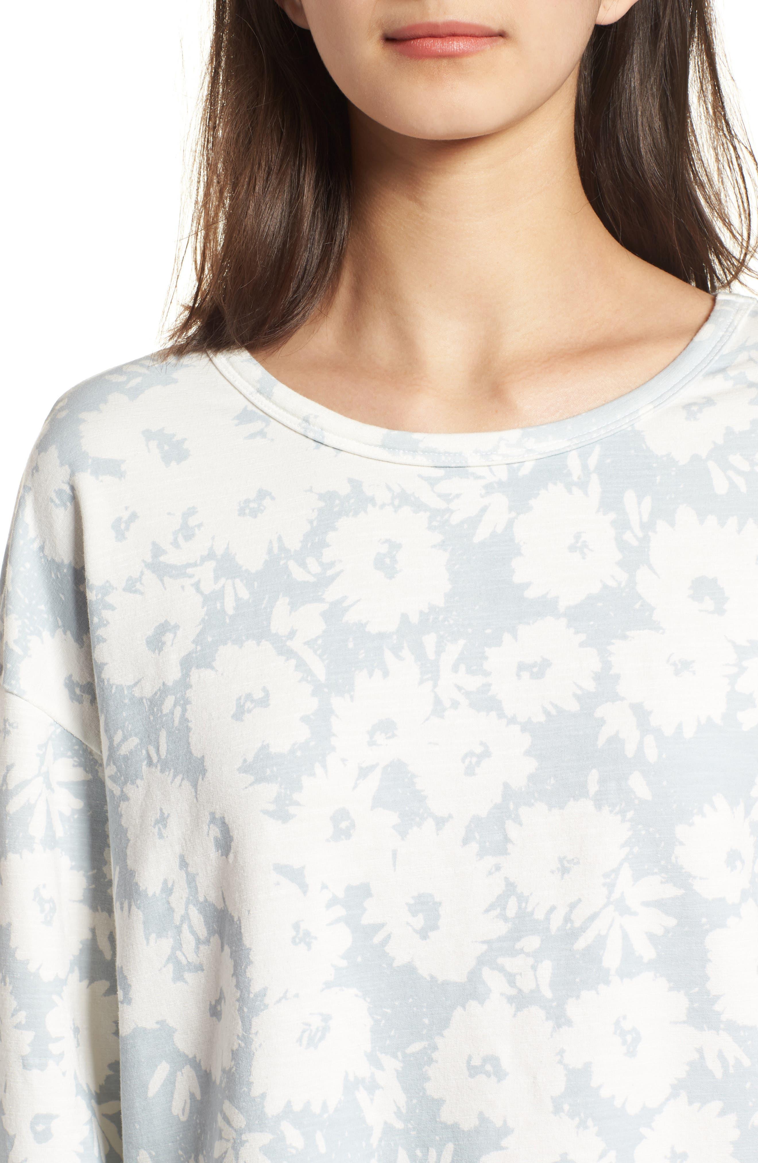 Kimono Sweatshirt,                             Alternate thumbnail 4, color,                             Sky/ White