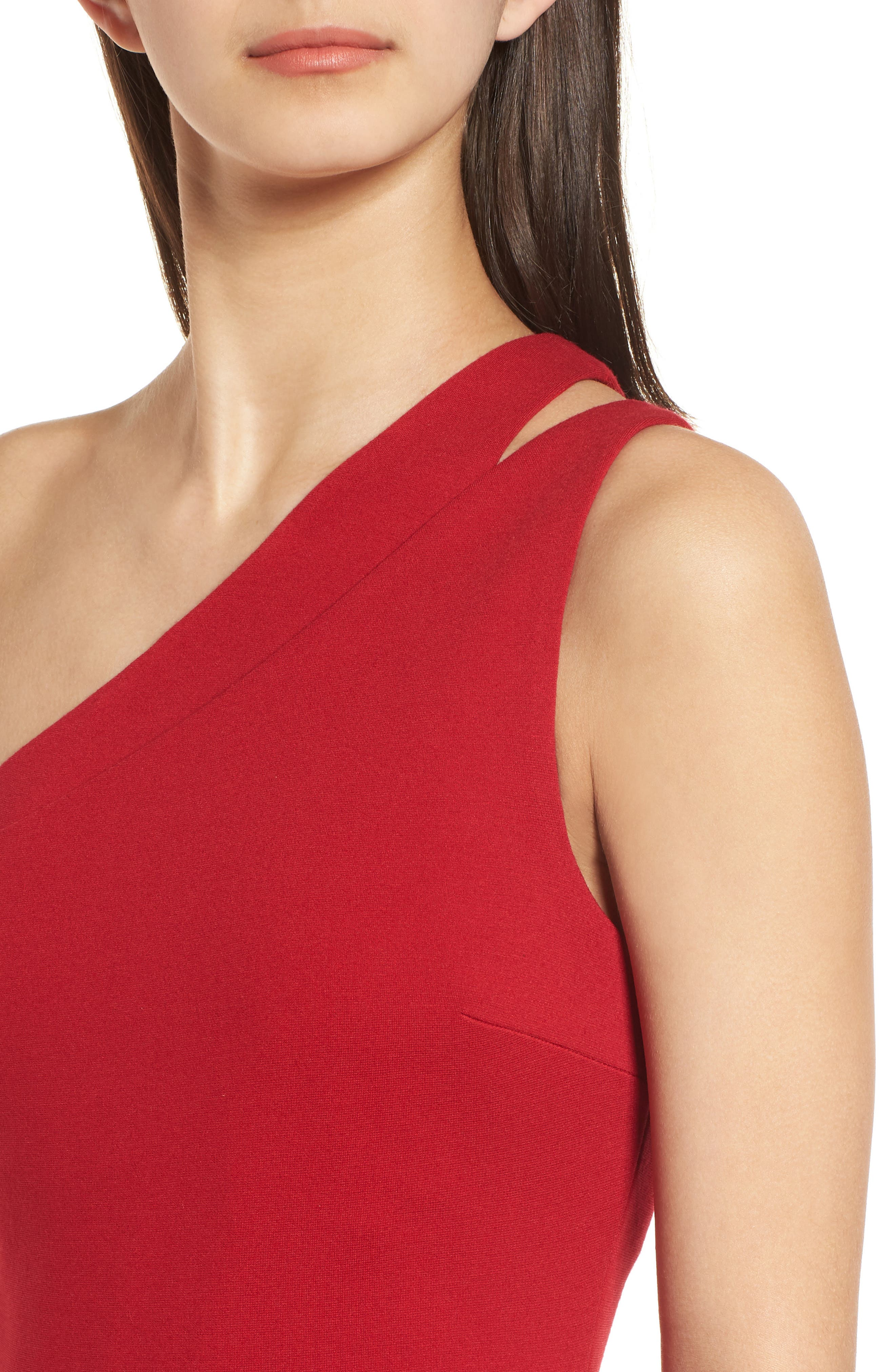 Sidewinder One-Shoulder Body-Con Dress,                             Alternate thumbnail 4, color,                             Bandana