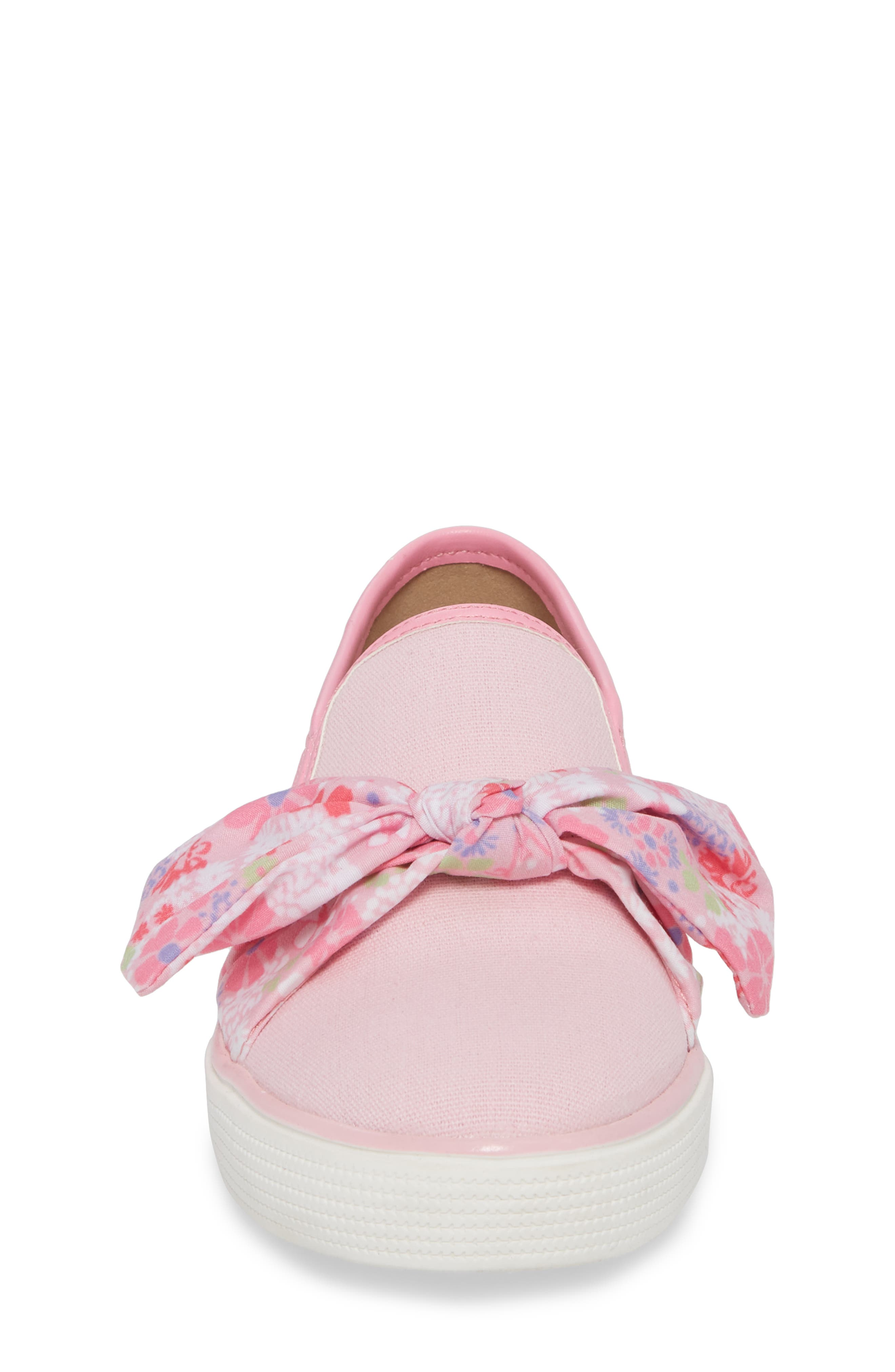 Ashlyn Bow Slip-On Sneaker,                             Alternate thumbnail 6, color,                             Orchid Pink