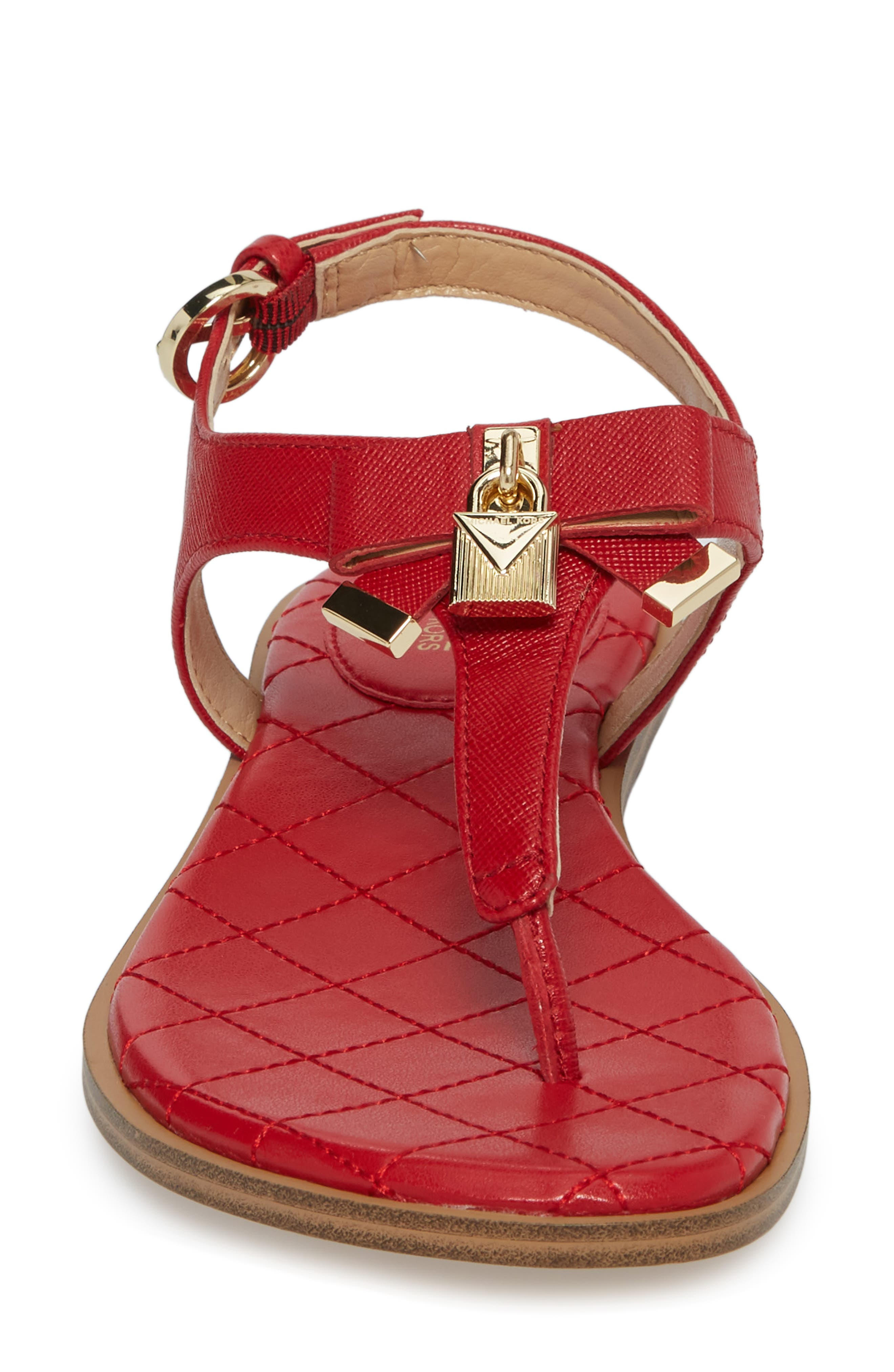Alice Sandal,                             Alternate thumbnail 4, color,                             Bright Red