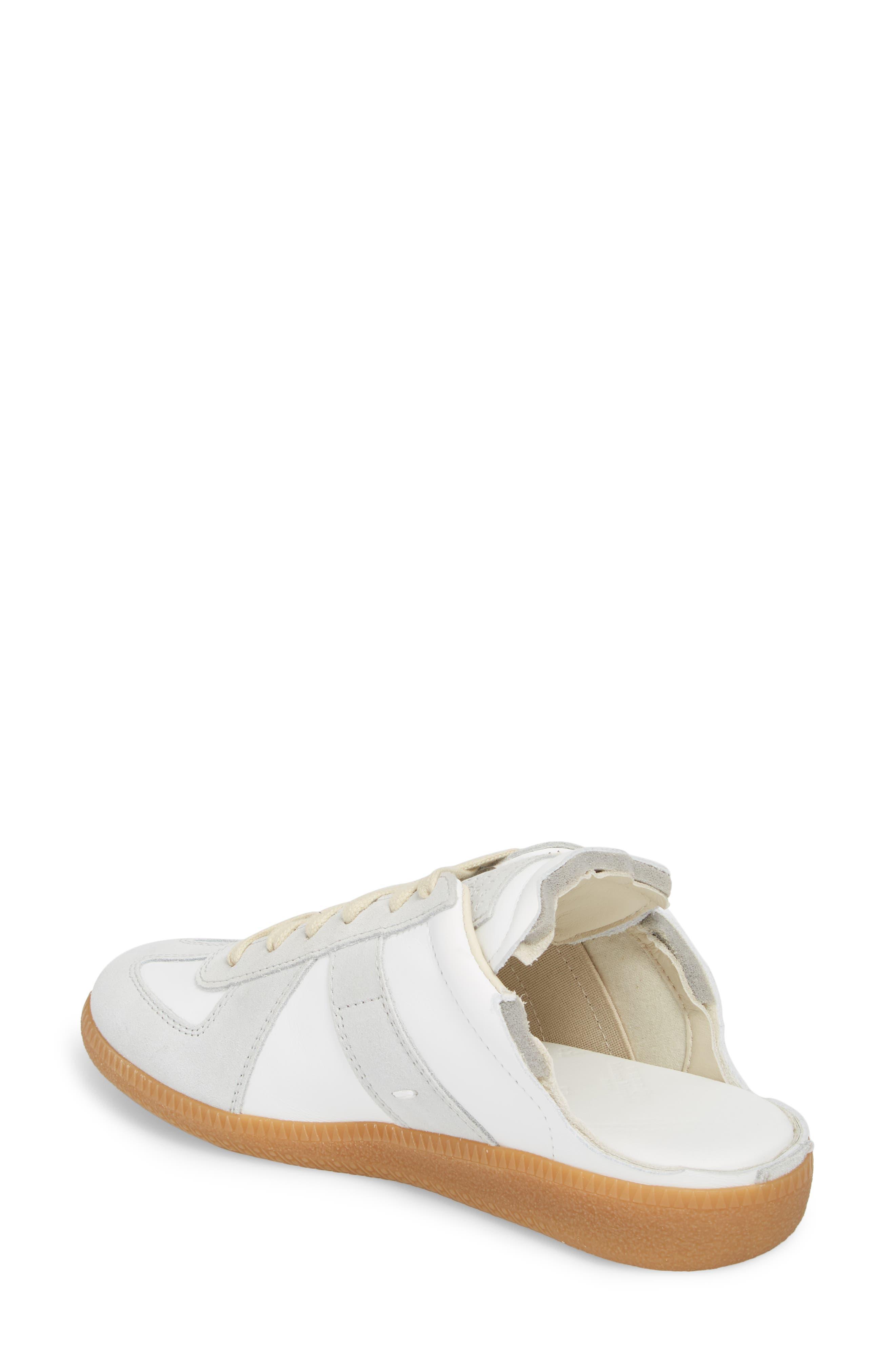 Replica Sneaker Mule,                             Alternate thumbnail 2, color,                             Amber/ White