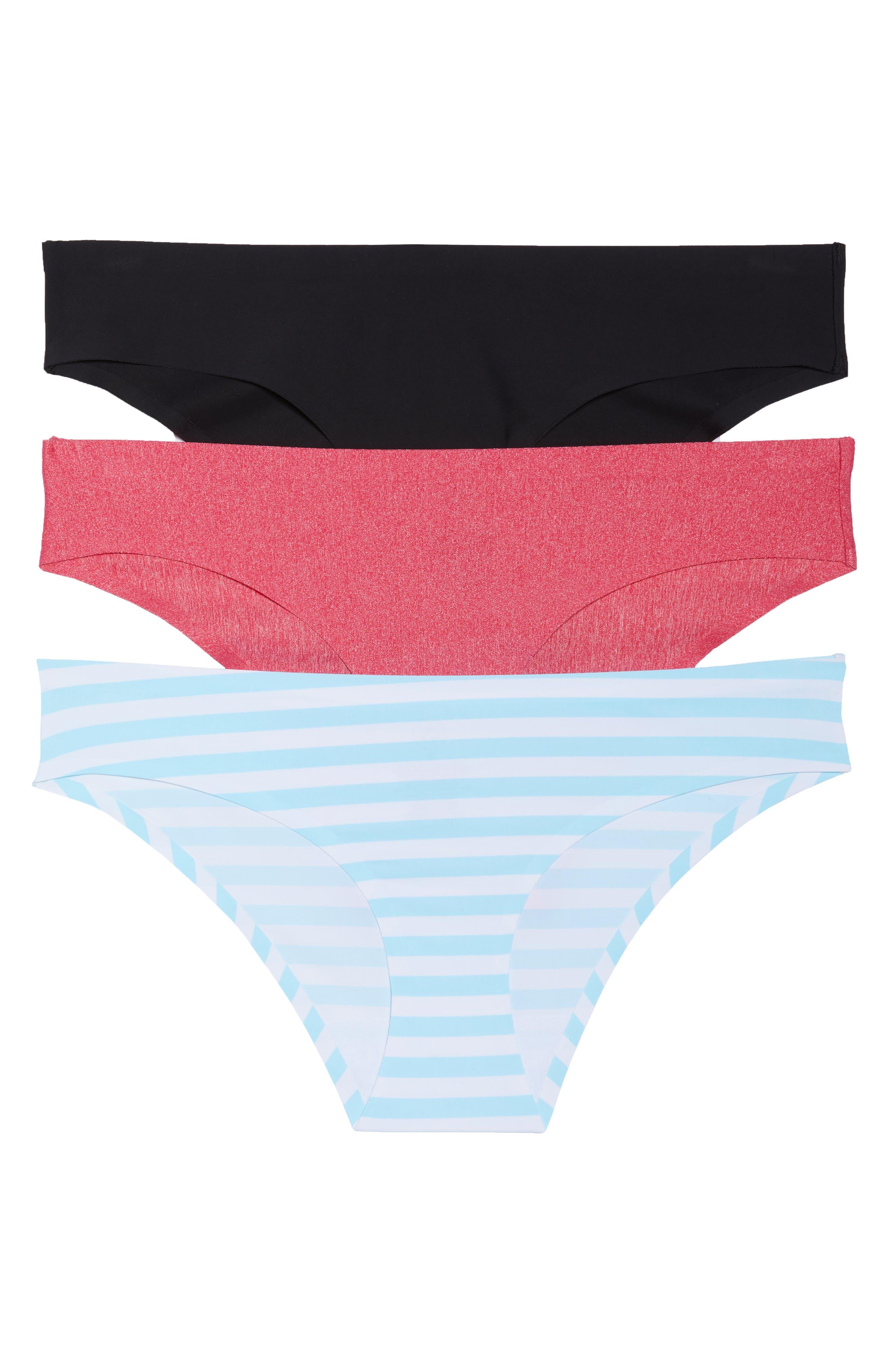 3-Pack Hipster Panties,                         Main,                         color, Black/ Poppy/ Marine Stripe