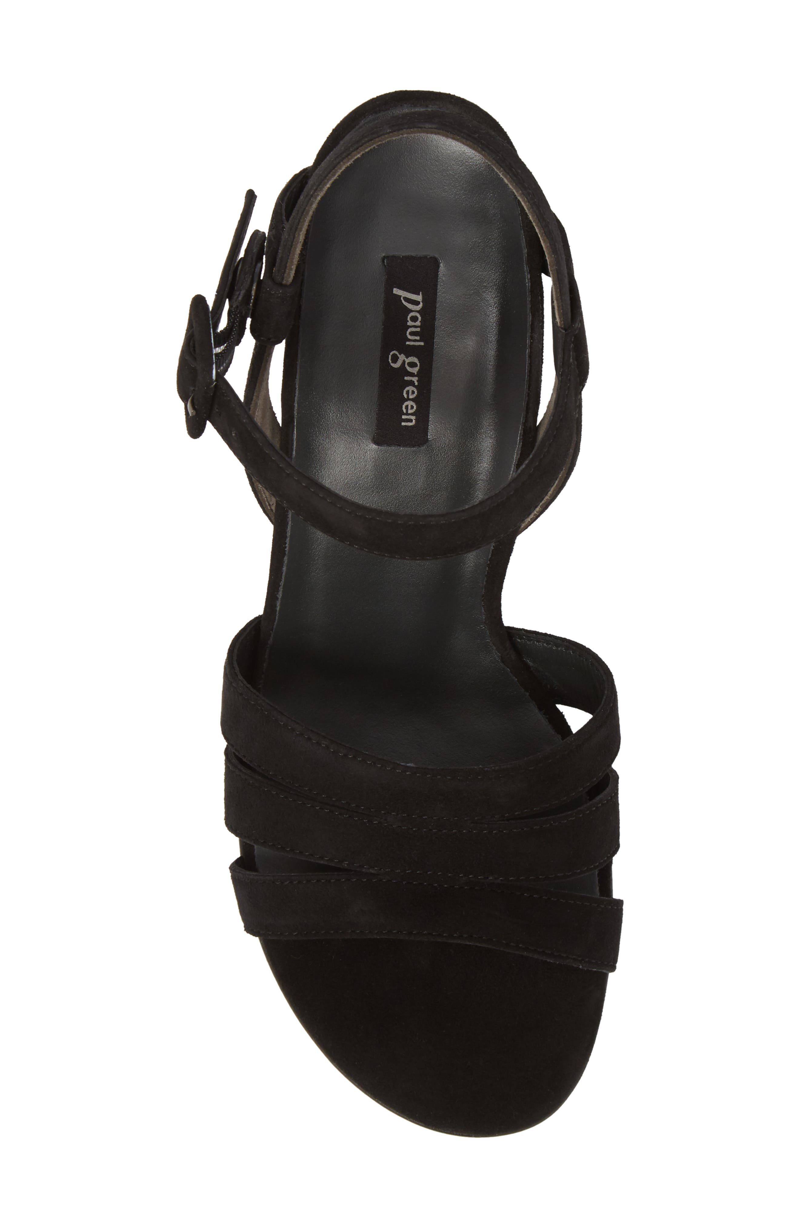 Rosemary Sandal,                             Alternate thumbnail 5, color,                             Black Suede
