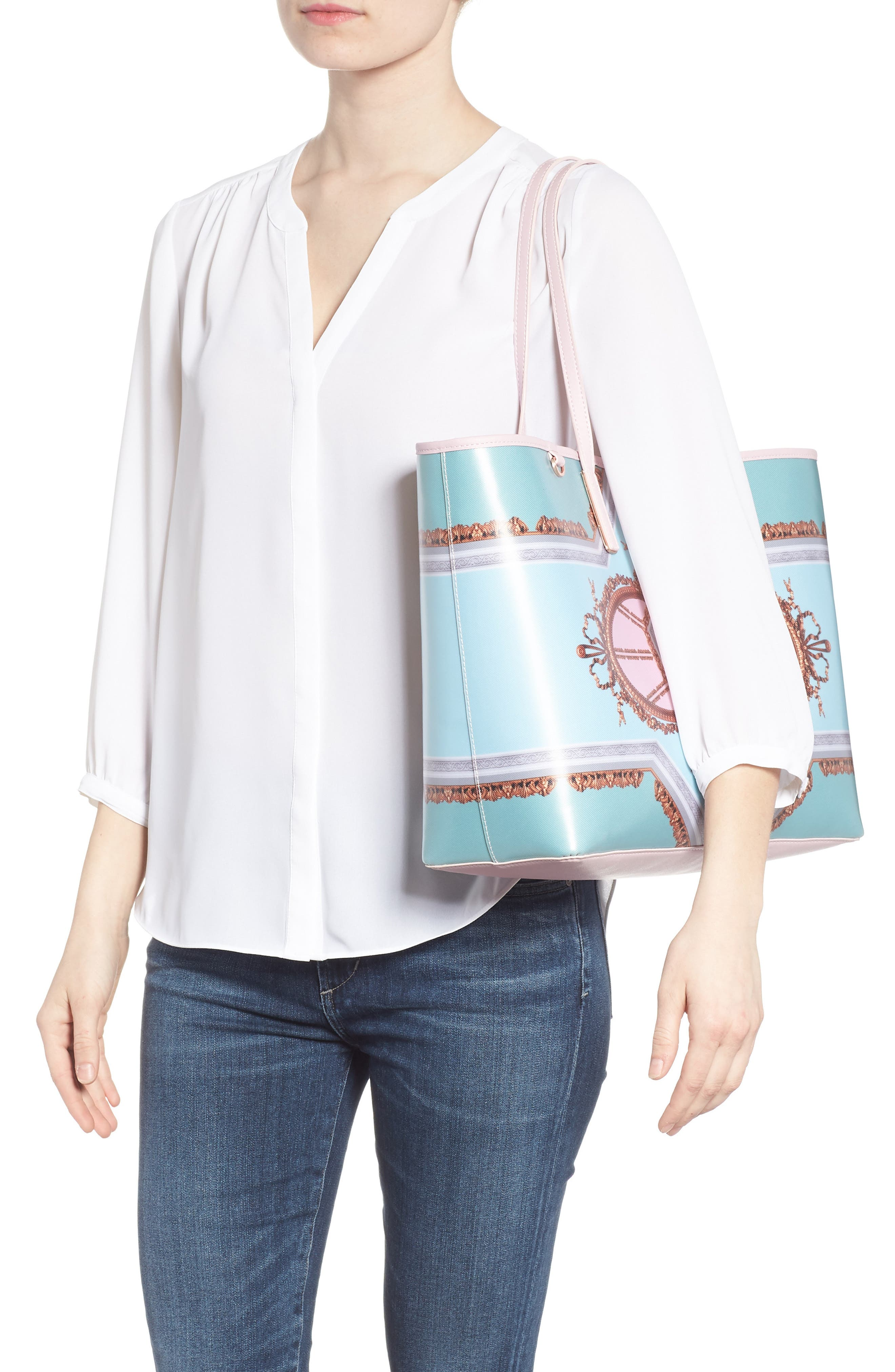 Alternate Image 2  - Ted Baker London Voletta Versailles Print Canvas Tote
