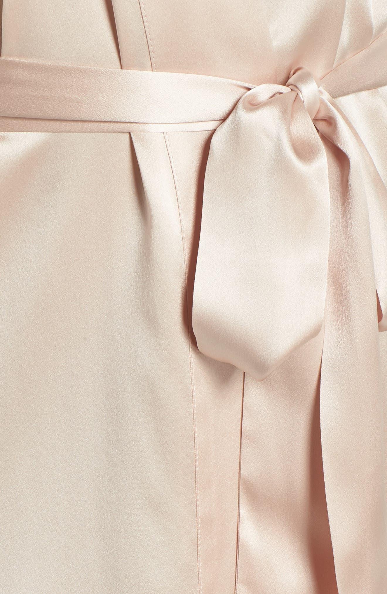 Alternate Image 5  - Christine Boudoir Silk Robe