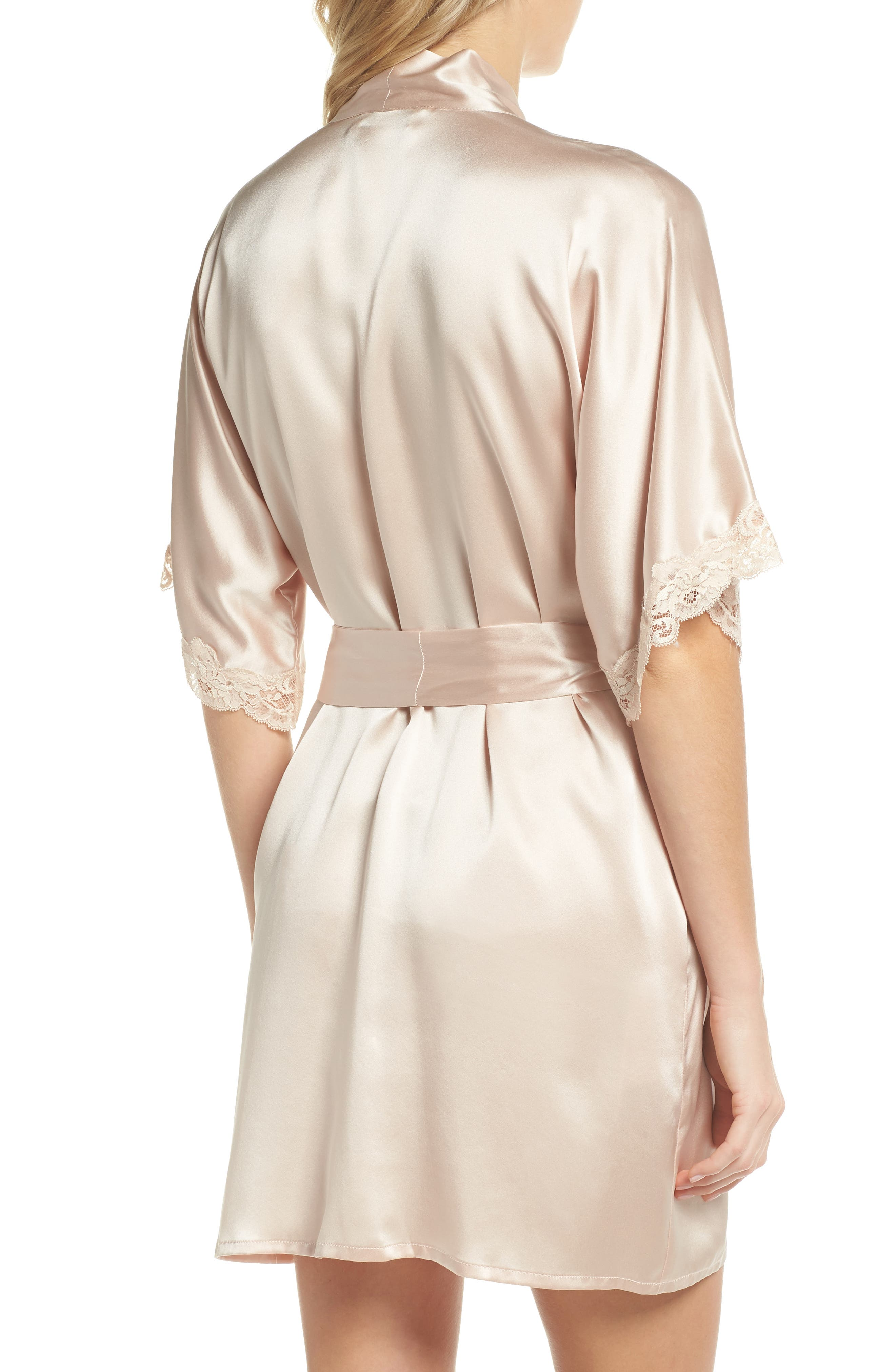 Alternate Image 2  - Christine Boudoir Silk Robe