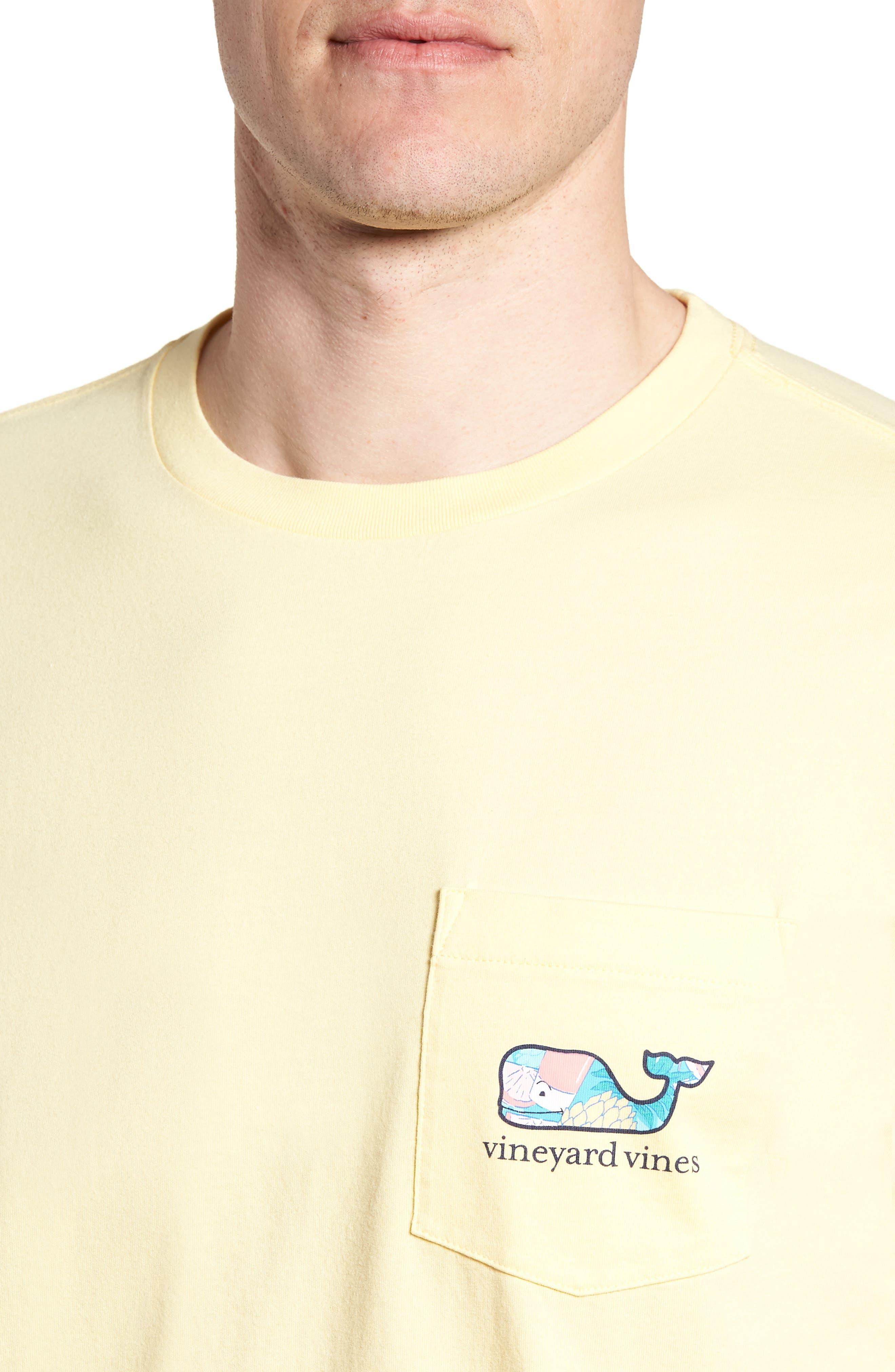 Bahama Mama Whale Pocket T-Shirt,                             Alternate thumbnail 4, color,                             Lemon Drop