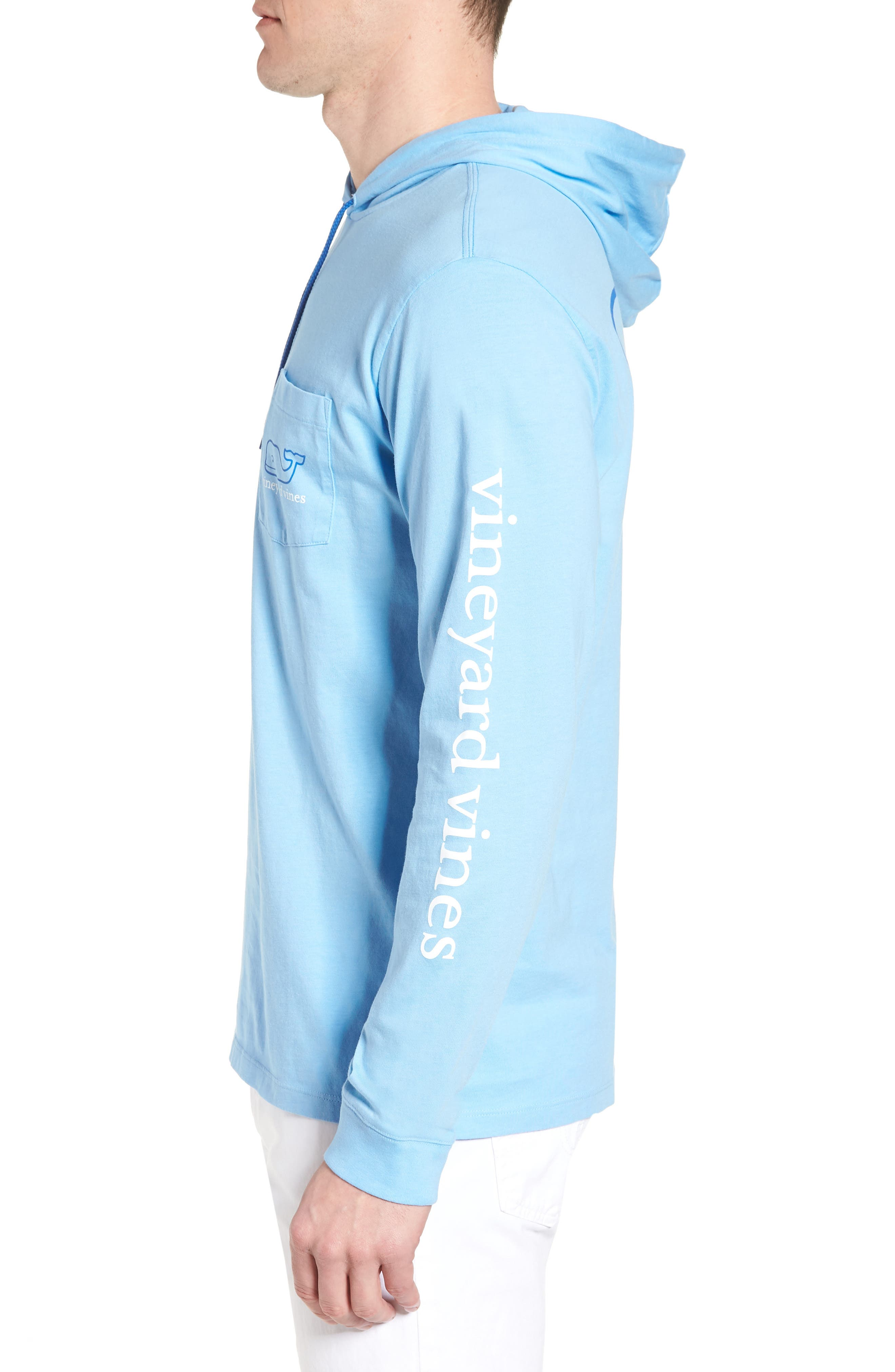 Whale Graphic Hooded T-Shirt,                             Alternate thumbnail 3, color,                             Ocean Breeze