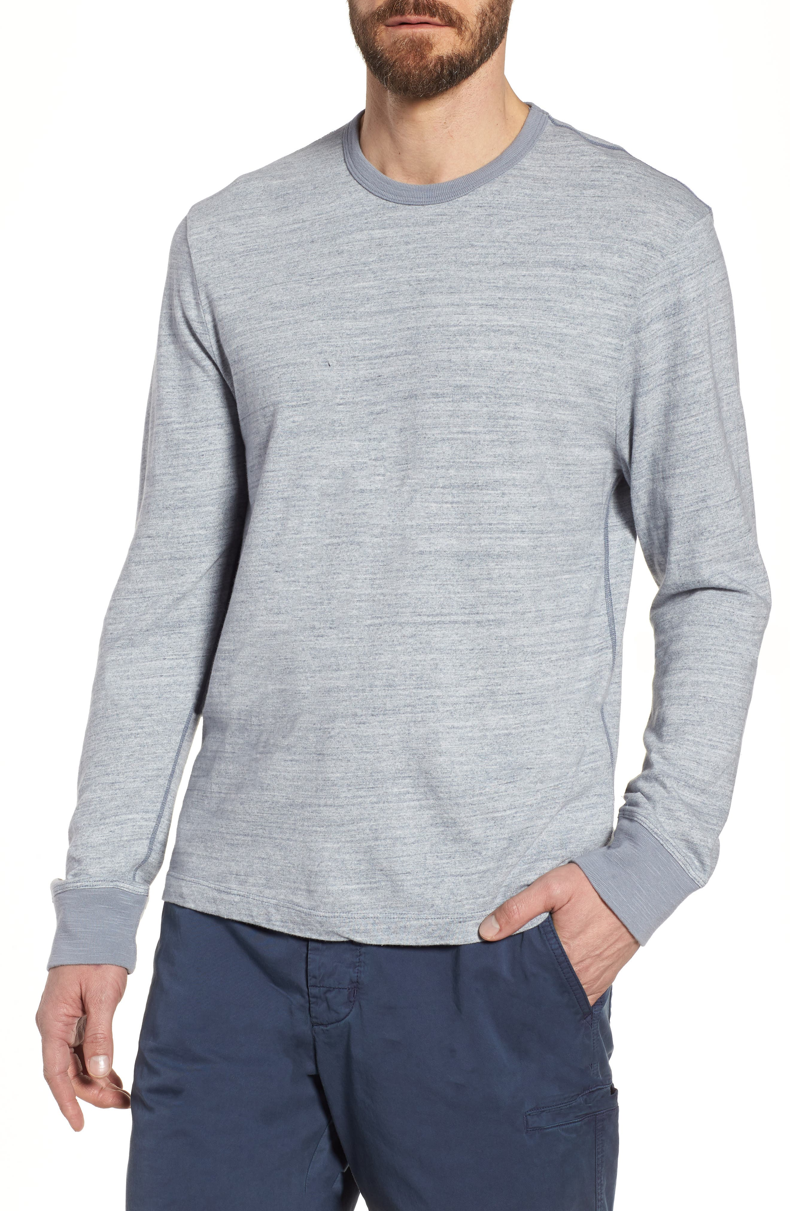 Regular Fit Top Dyed Crewneck T-Shirt,                             Main thumbnail 1, color,                             Grey
