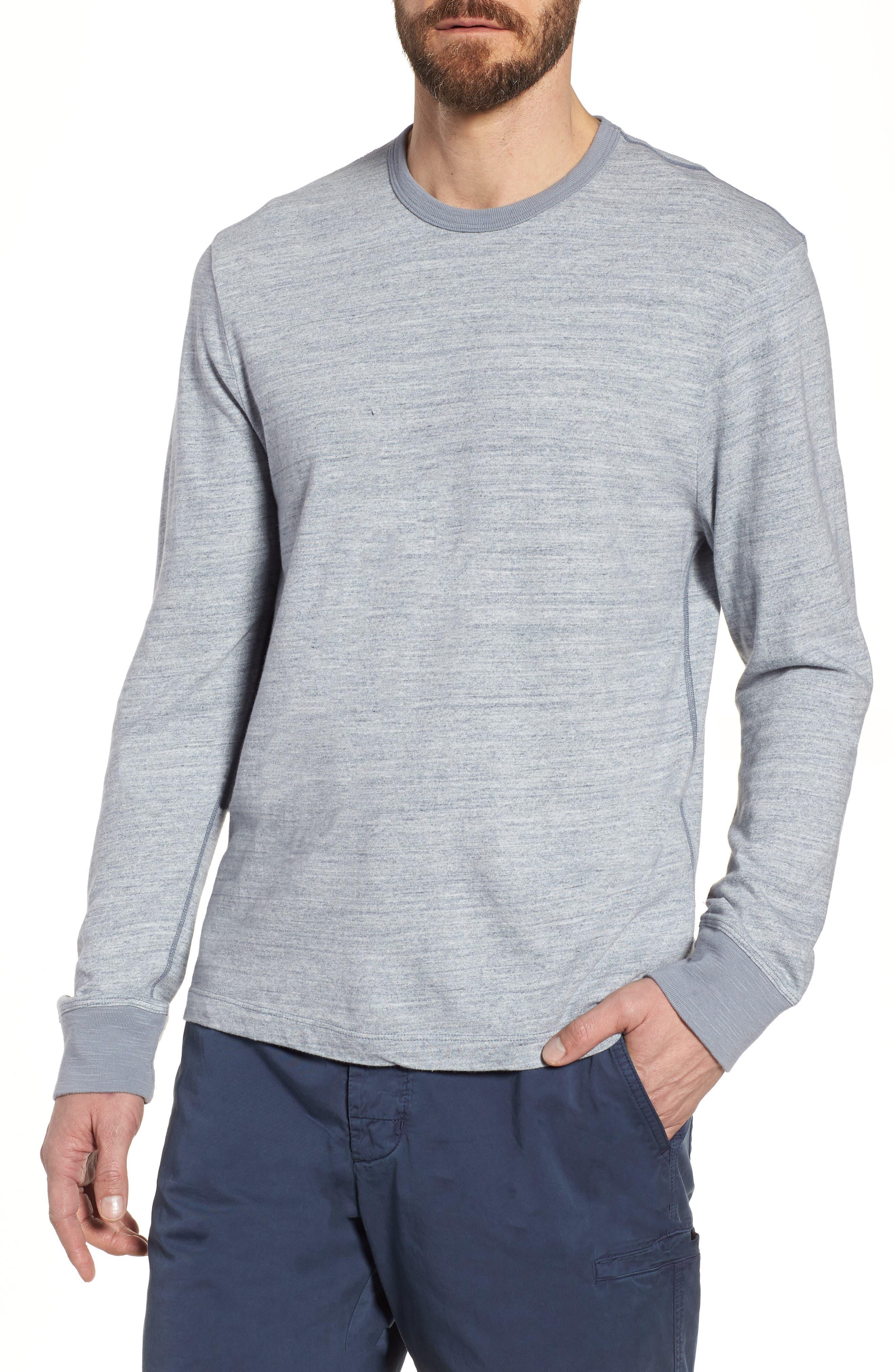 Regular Fit Top Dyed Crewneck T-Shirt,                         Main,                         color, Grey