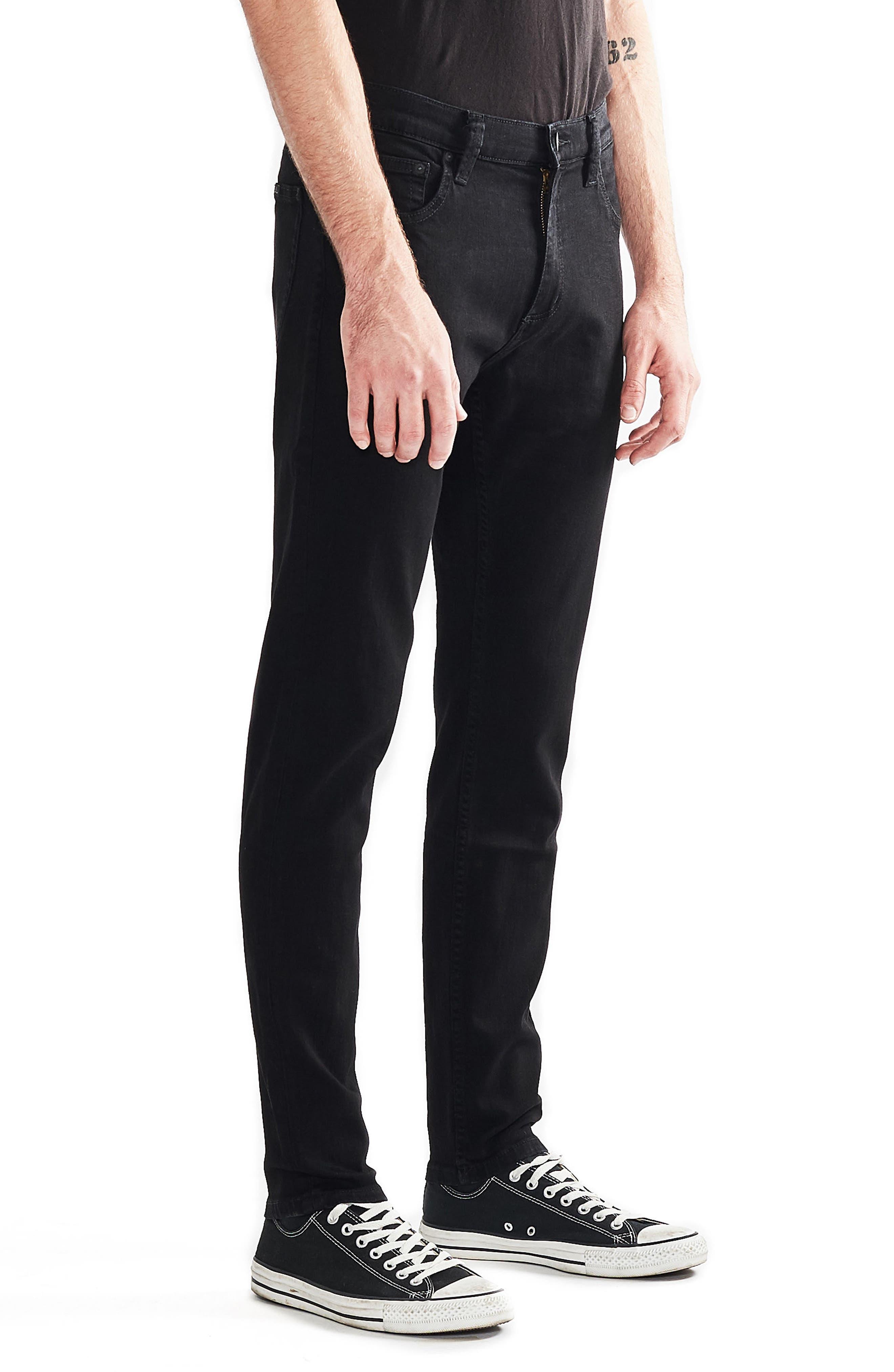 Stinger Skinny Fit Jeans,                             Alternate thumbnail 3, color,                             Black Gold