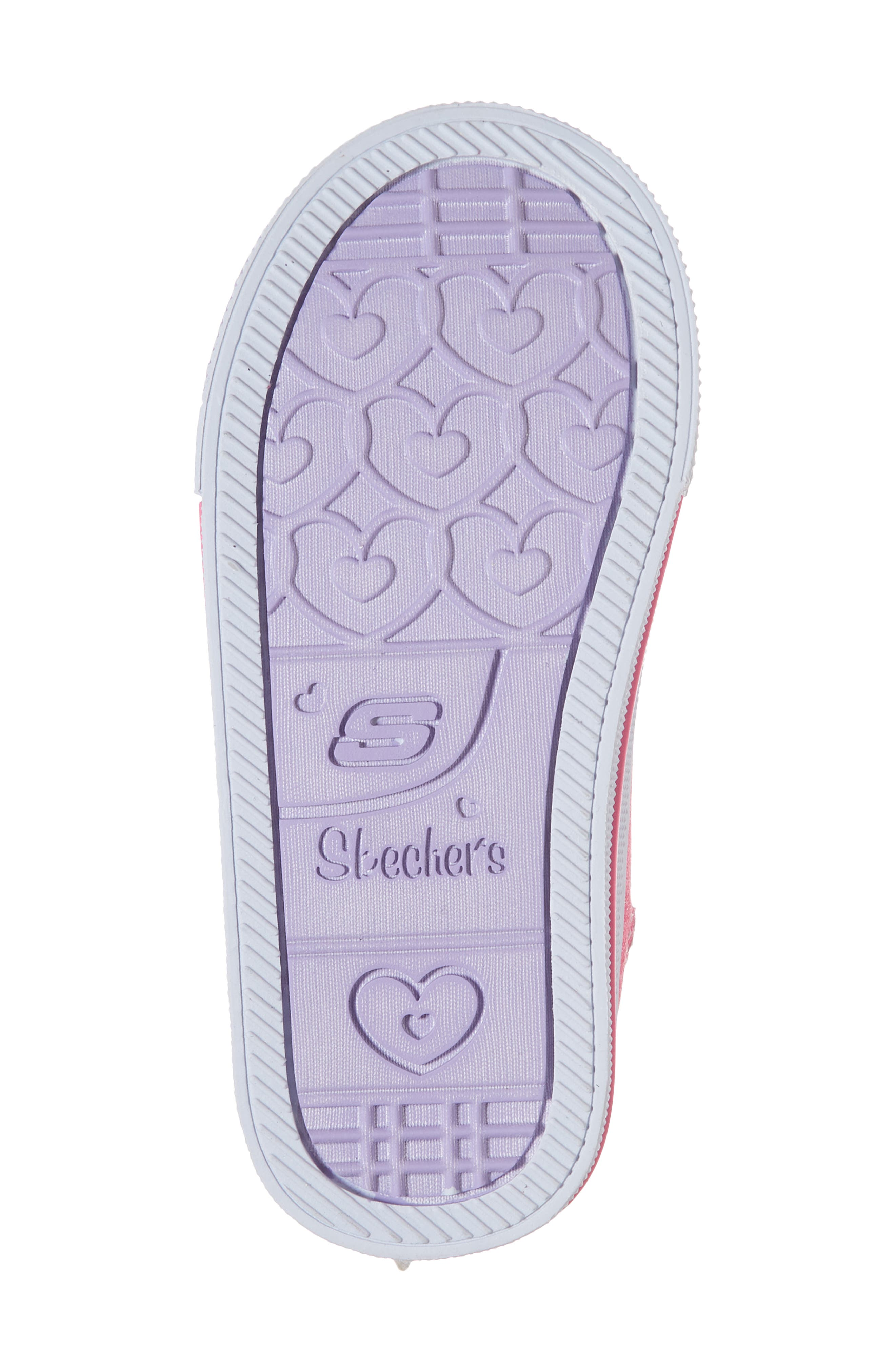 Twinkle Toes Shuffles Fooling Flutters Light-Up High Top Sneaker,                             Alternate thumbnail 6, color,                             Hot Pink/ Silver