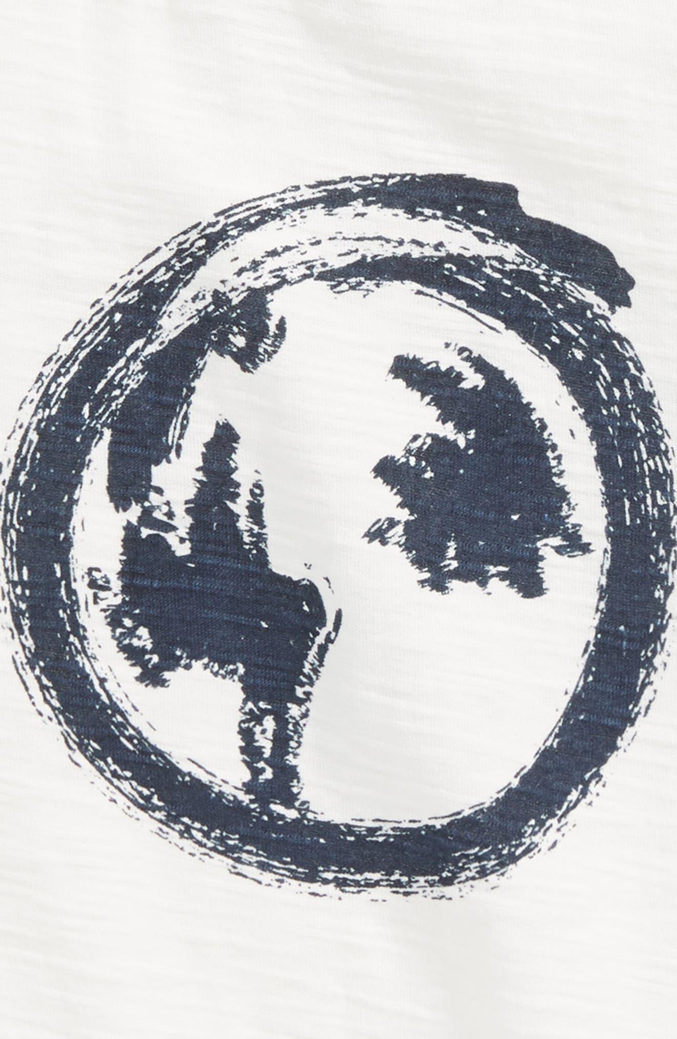 The World Awaits T-Shirt,                             Alternate thumbnail 3, color,                             Off  White