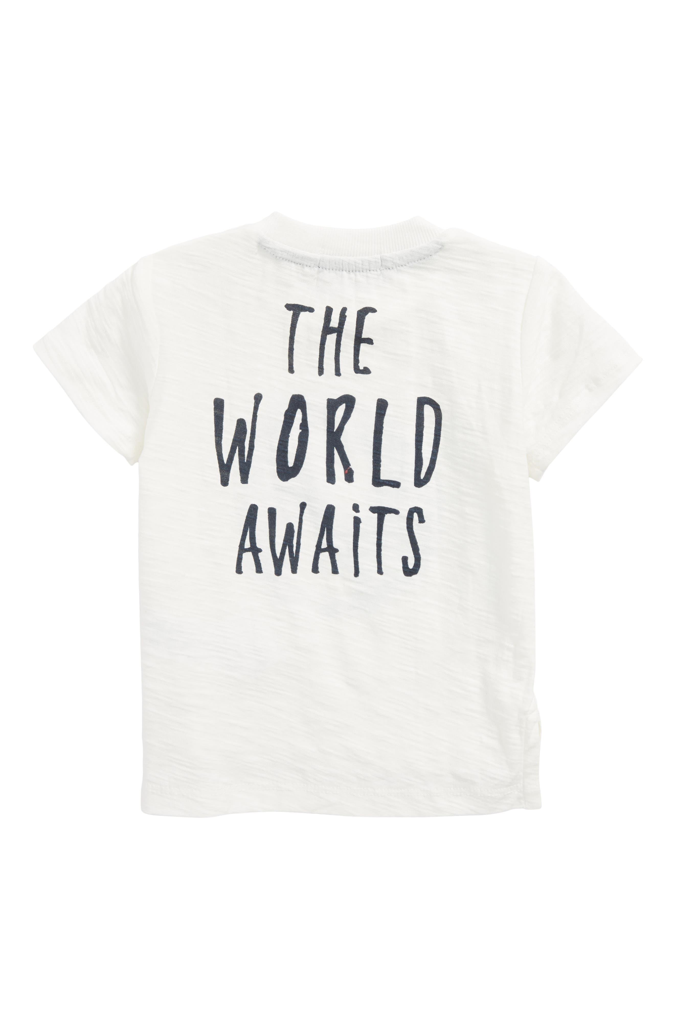 The World Awaits T-Shirt,                             Alternate thumbnail 2, color,                             Off  White