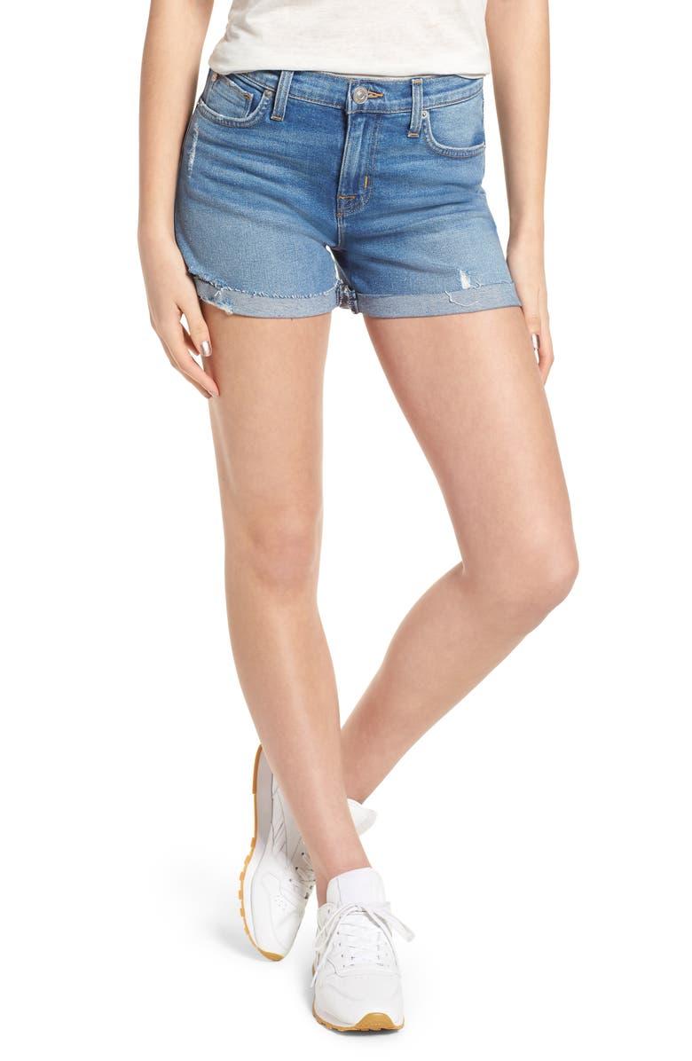 Valeri Cuff Denim Shorts