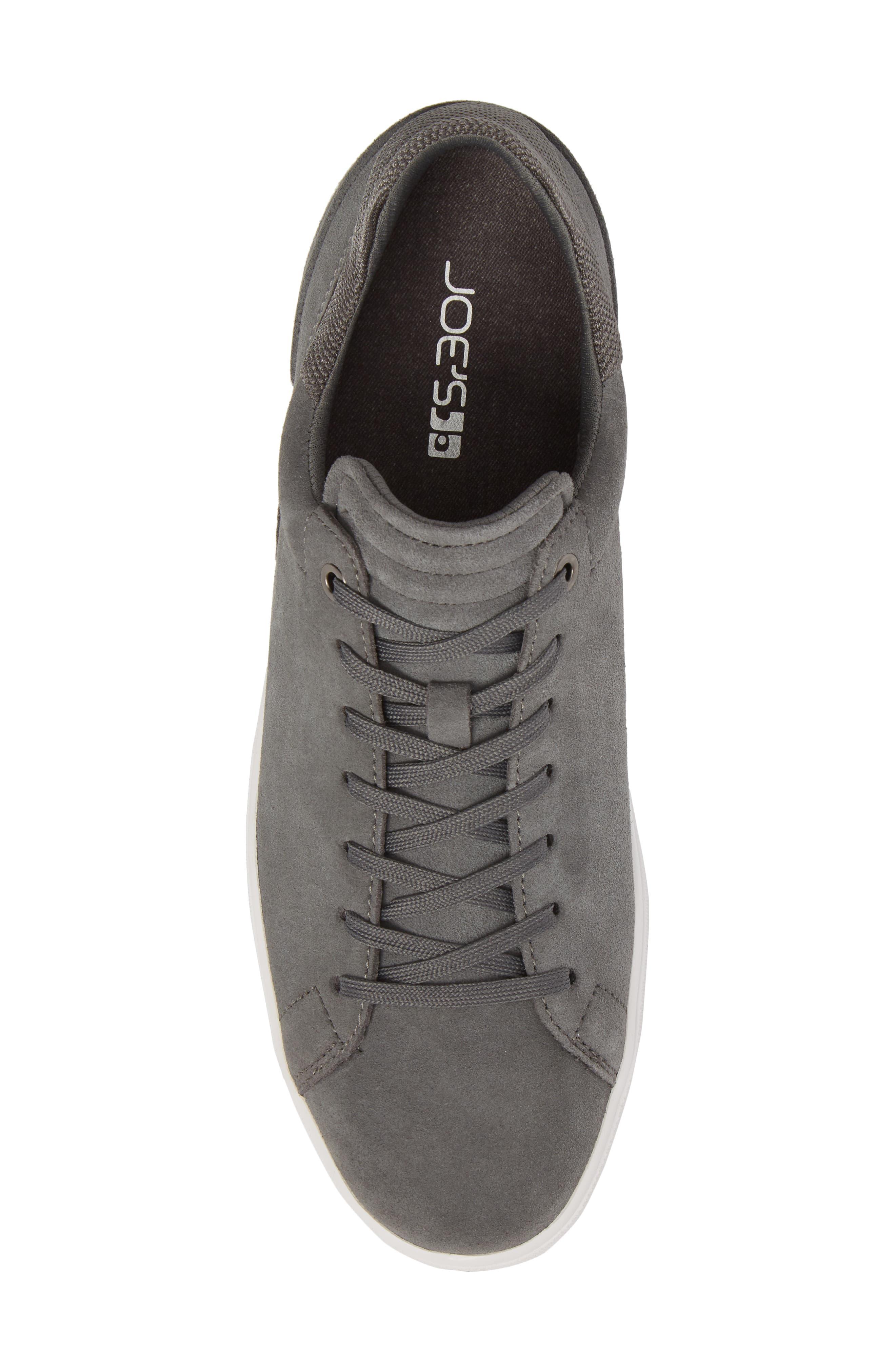 Joe Mama Low Top Sneaker,                             Alternate thumbnail 5, color,                             Grey Suede