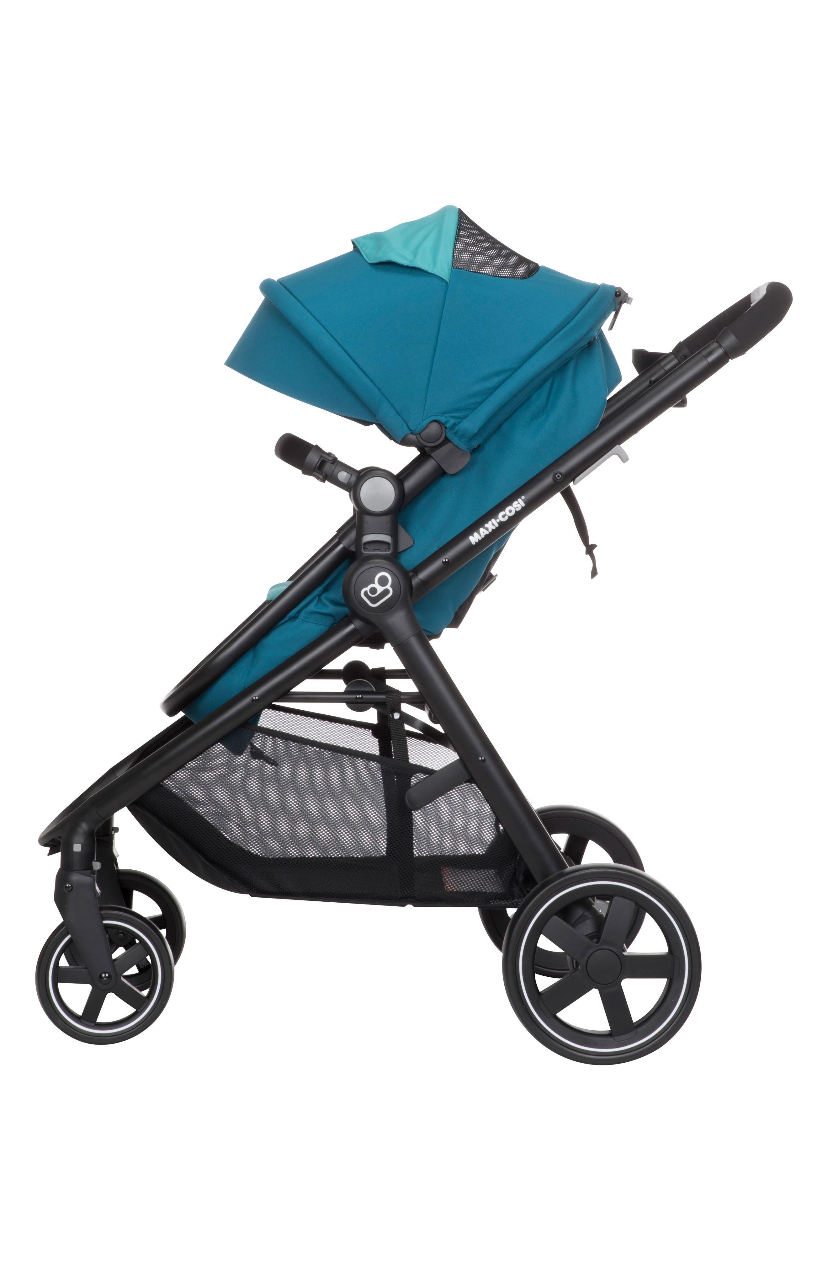 5-1 Mico 30 Infant Car Seat & Zelia Stroller Modular Travel System,                             Alternate thumbnail 9, color,                             Emerald Tide