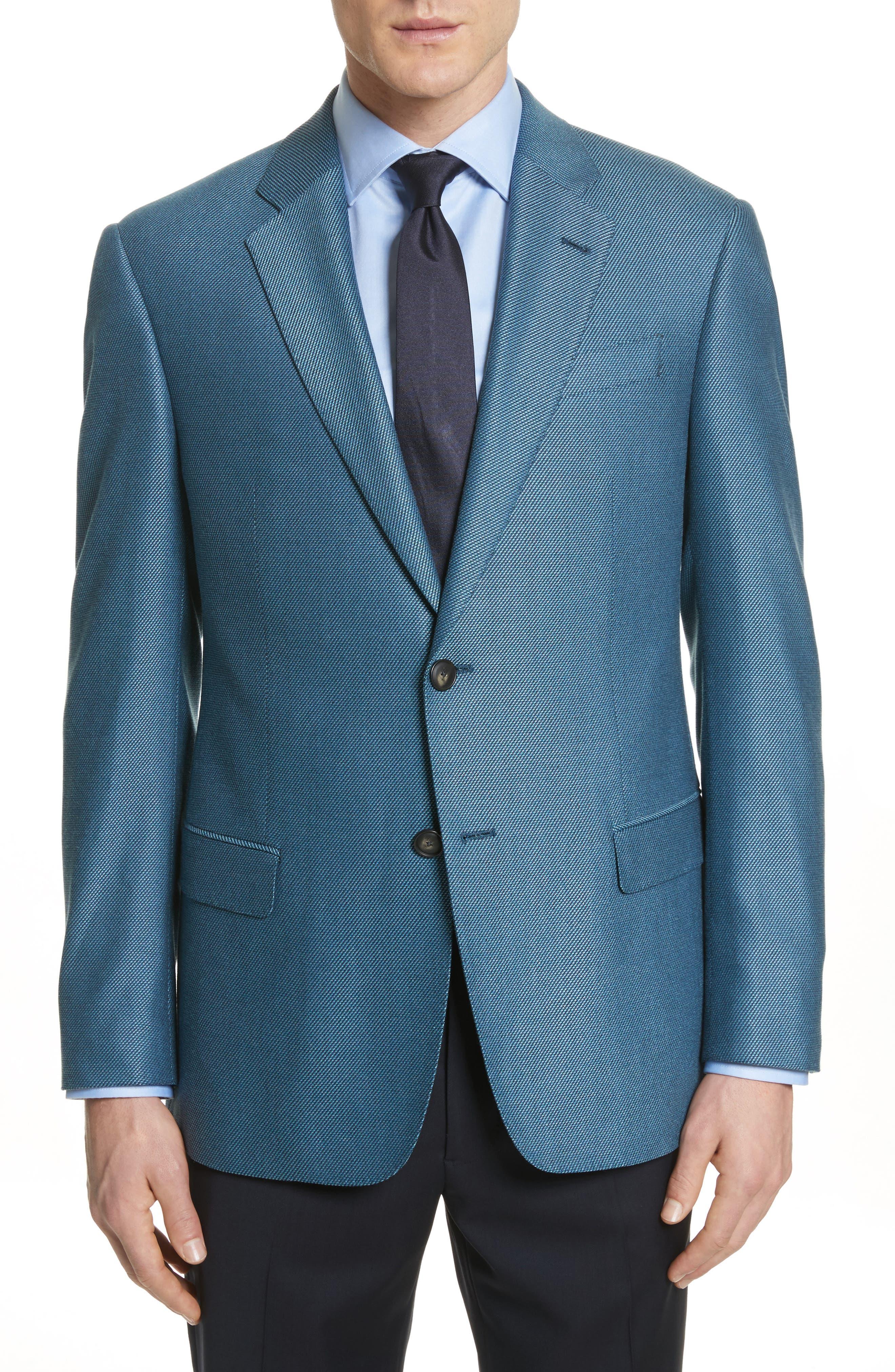 G-Line Trim Fit Blazer,                         Main,                         color, Blue Grey