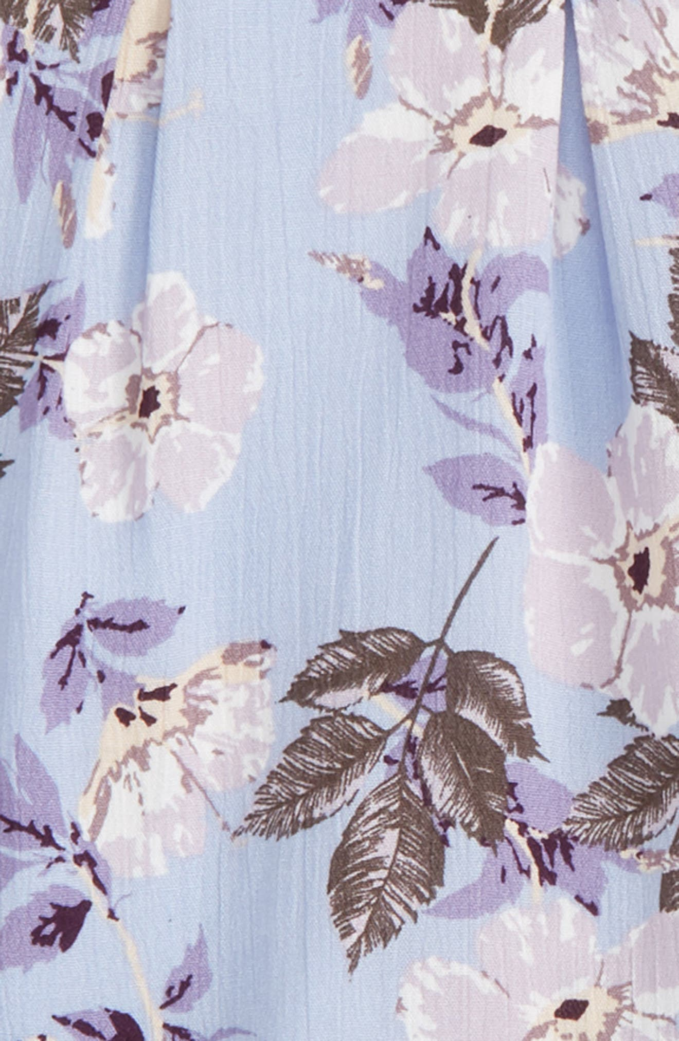 Print Halter Top & Shorts Set,                             Alternate thumbnail 3, color,                             Lavender