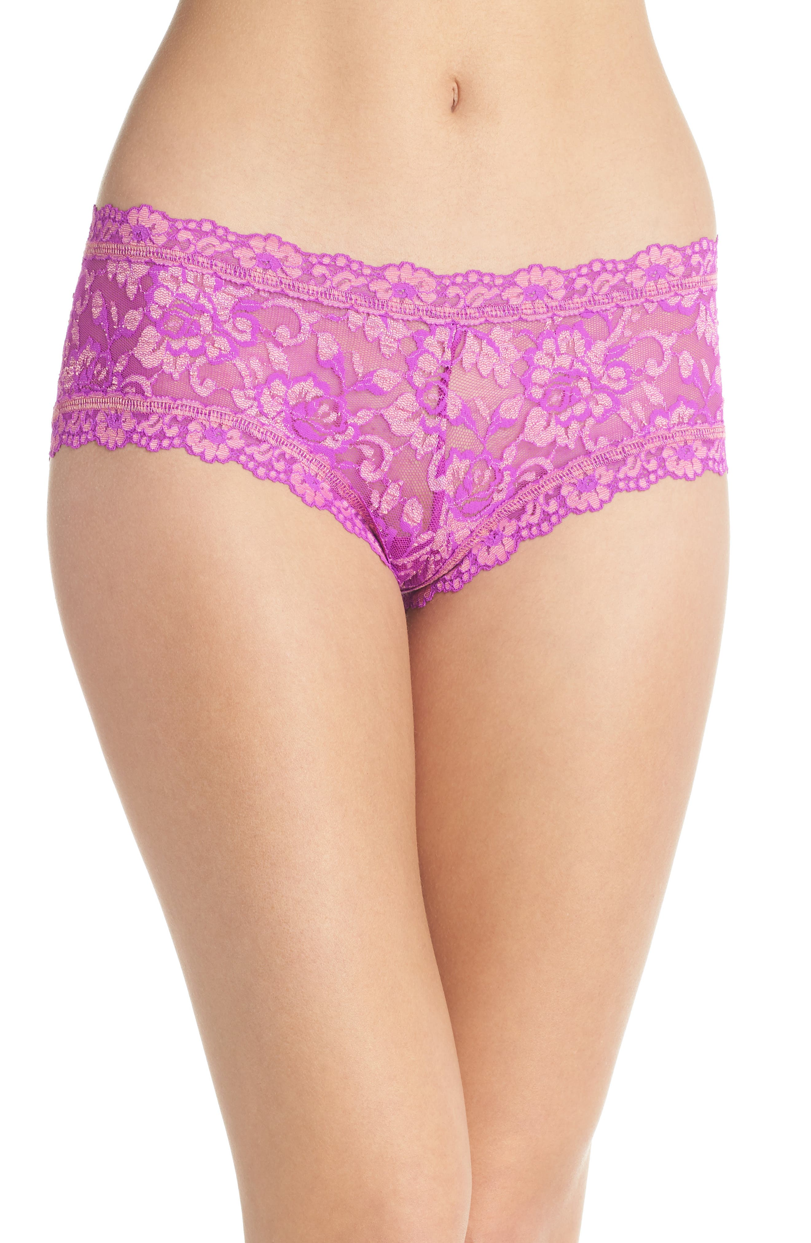 Cross Dyed Boyshorts,                         Main,                         color, Wild Orchid