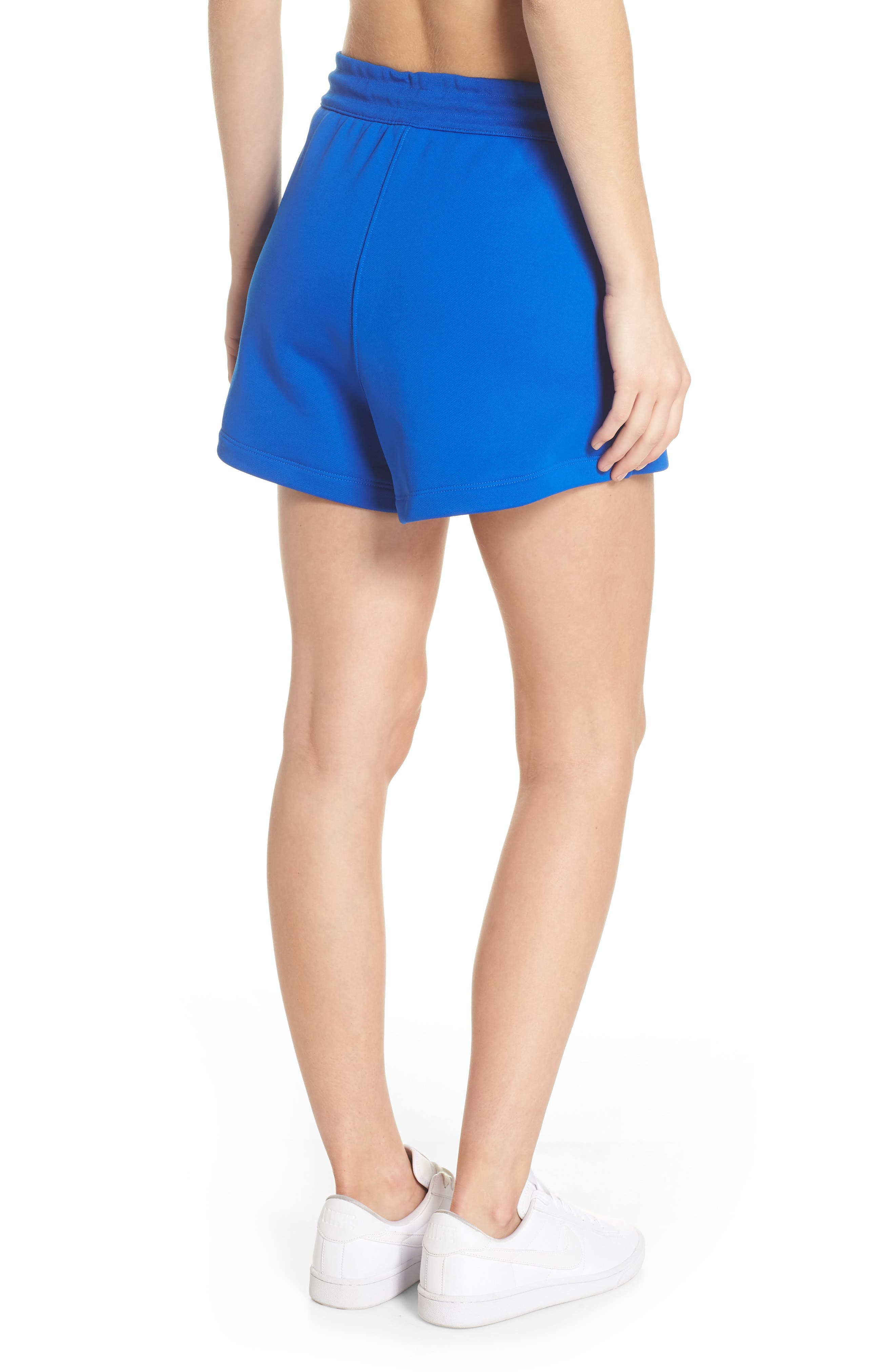 NikeLab Collection Women's Fleece Shorts,                             Alternate thumbnail 2, color,                             Hyper Cobalt/ Black