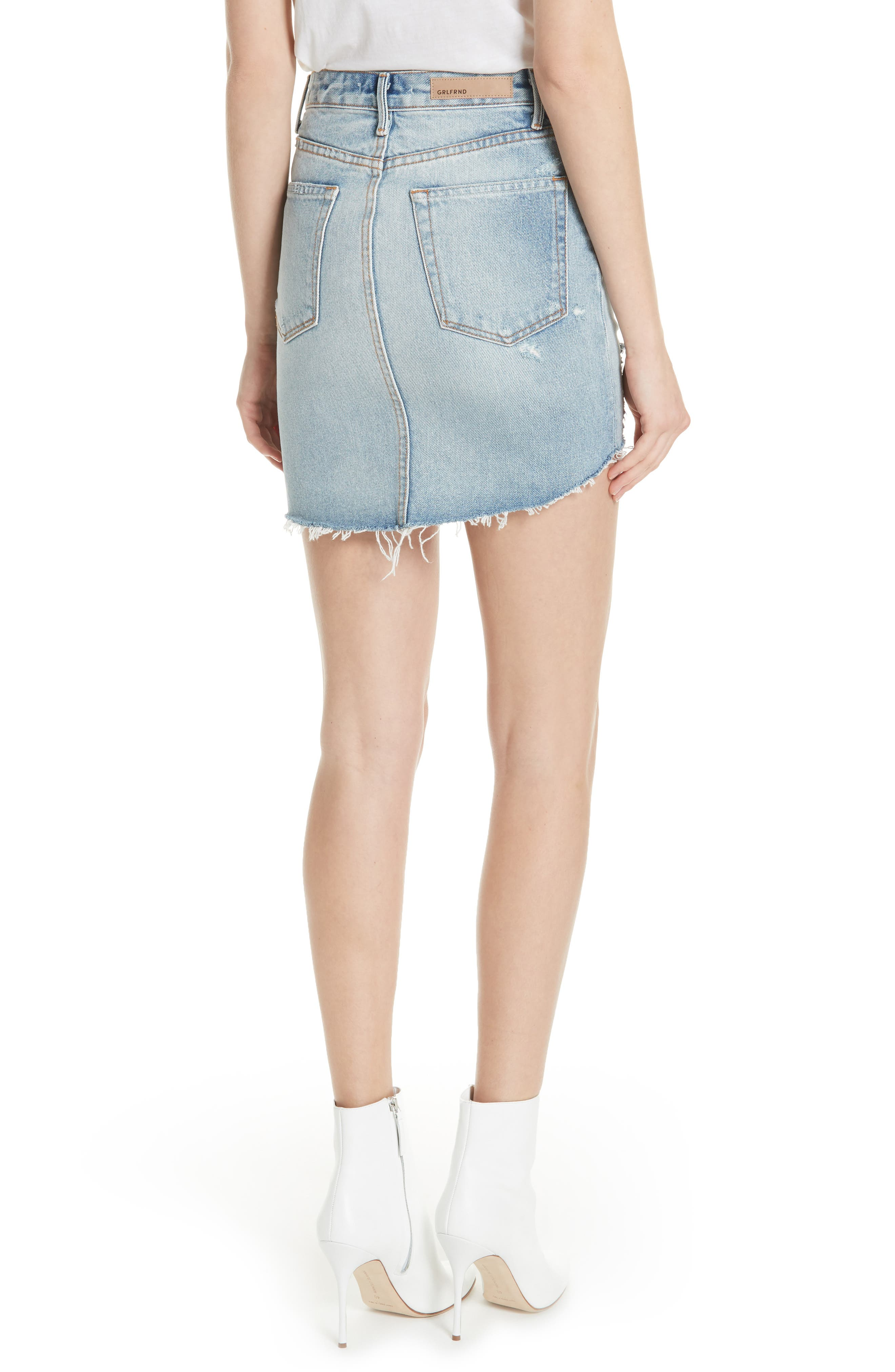 Rhoda Denim Skirt,                             Alternate thumbnail 2, color,                             Lava Bed