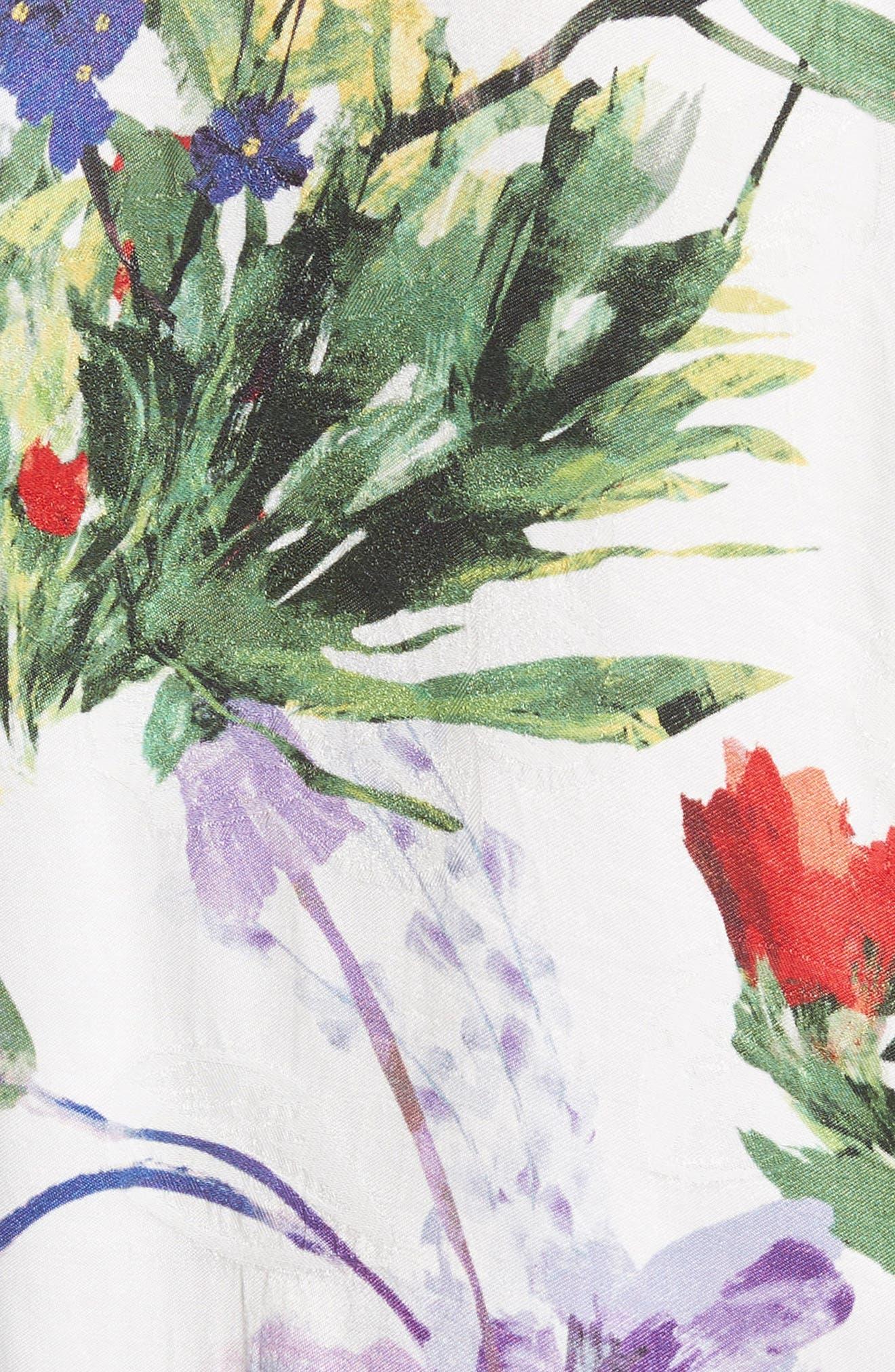 Hellen Boxy Floral Print Tee,                             Alternate thumbnail 5, color,                             Wildflower